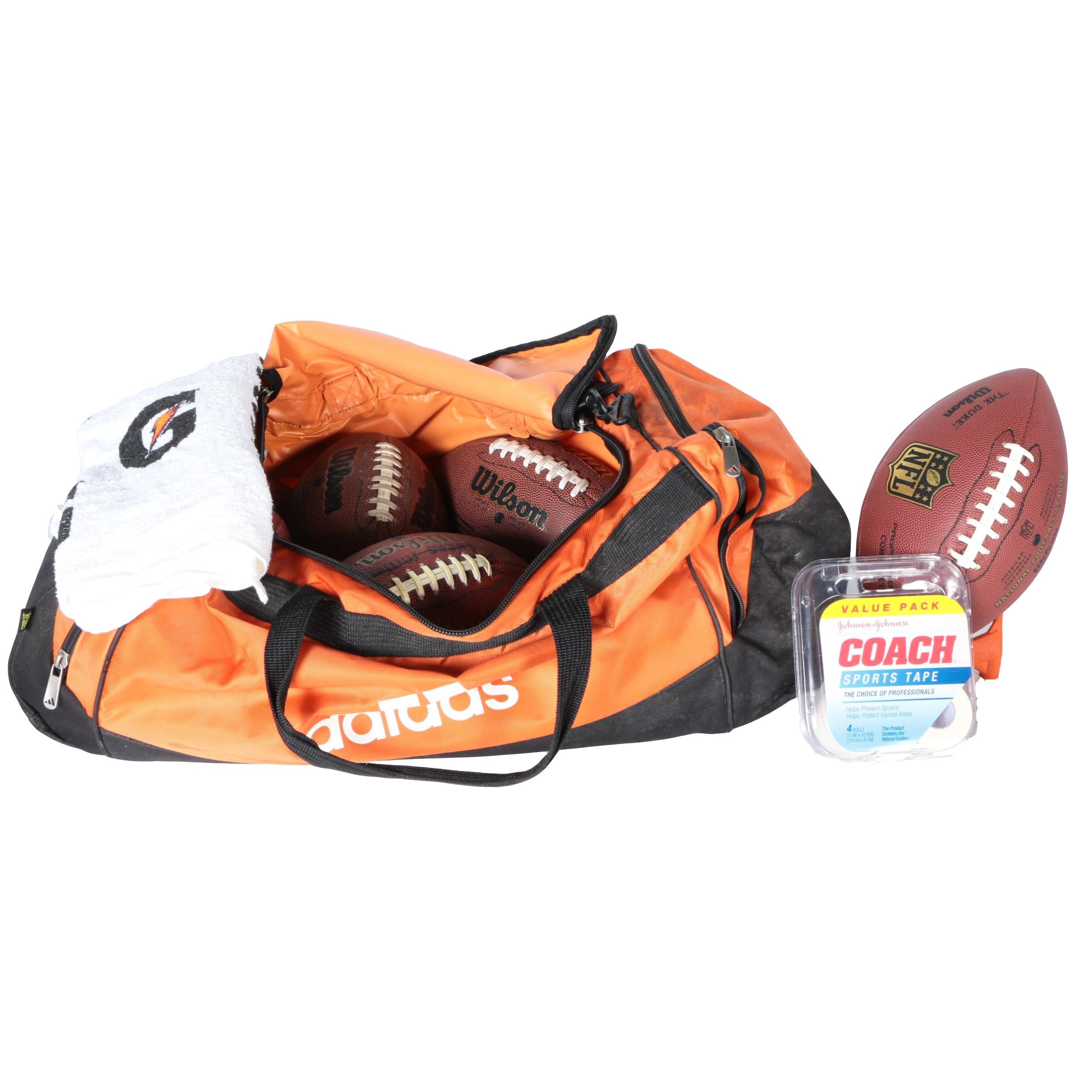 Adidas Bag with Footballs and Accessories