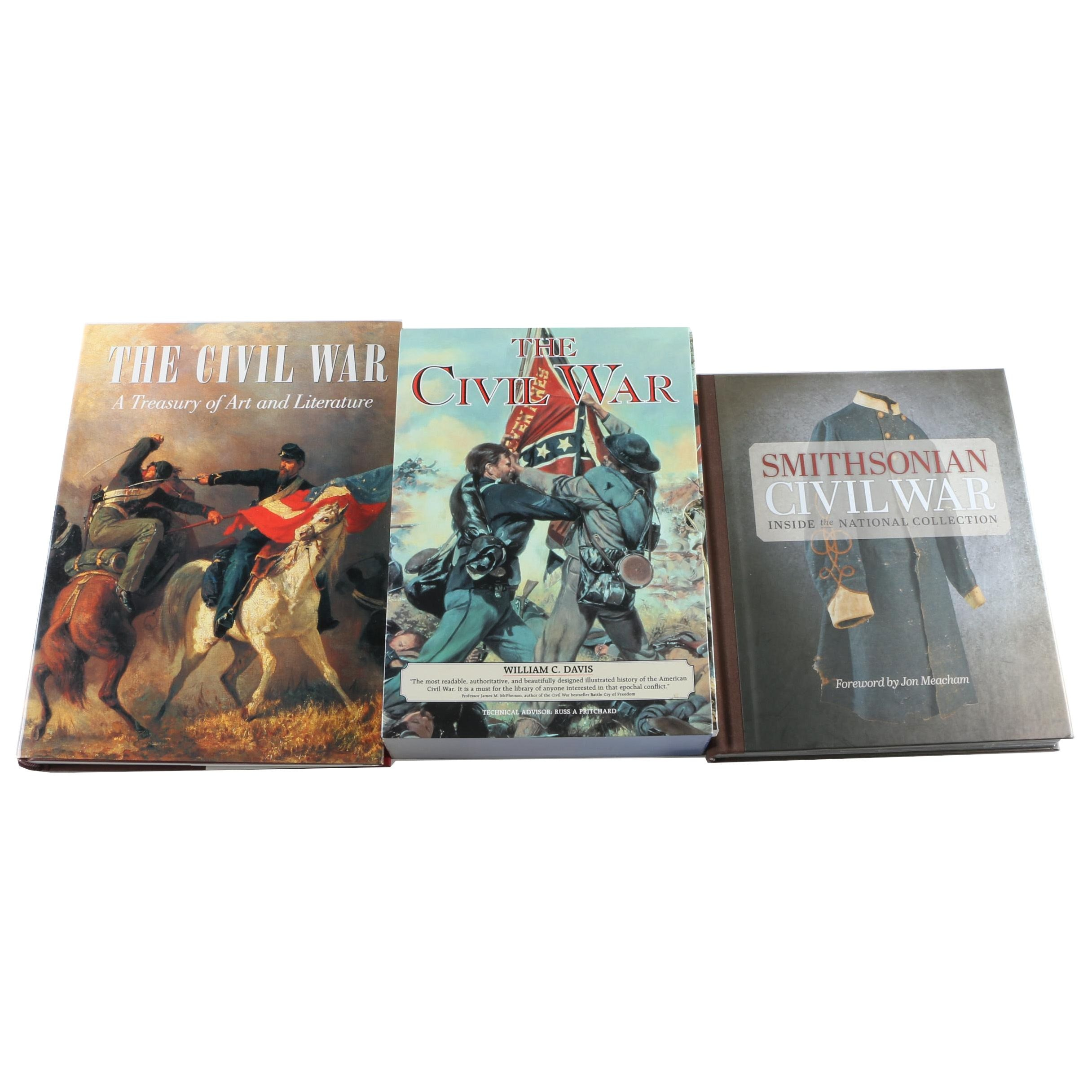 Assorted Hardcover Books on the Civil War