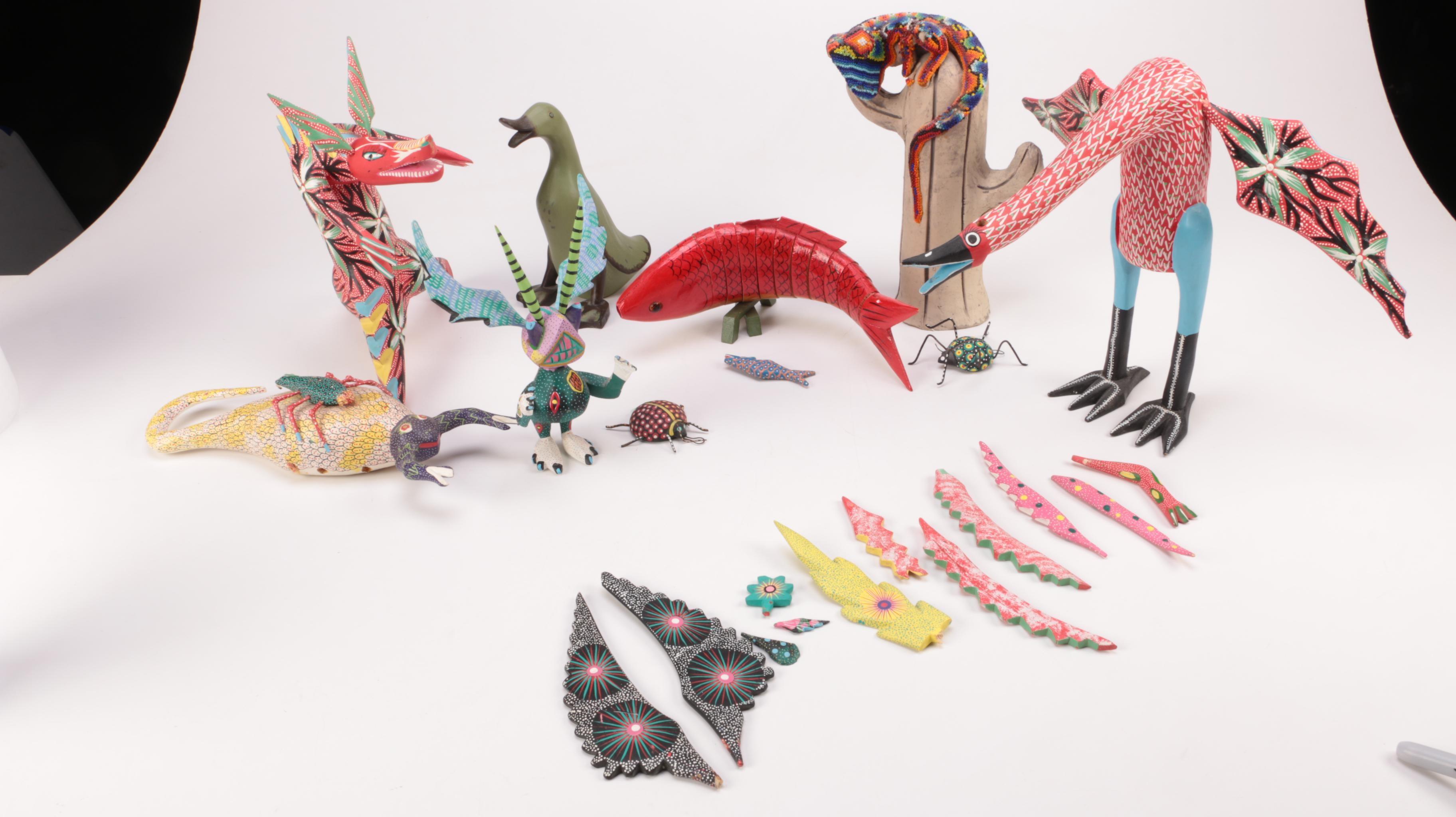 Mexican Folk Art Animal Figurines
