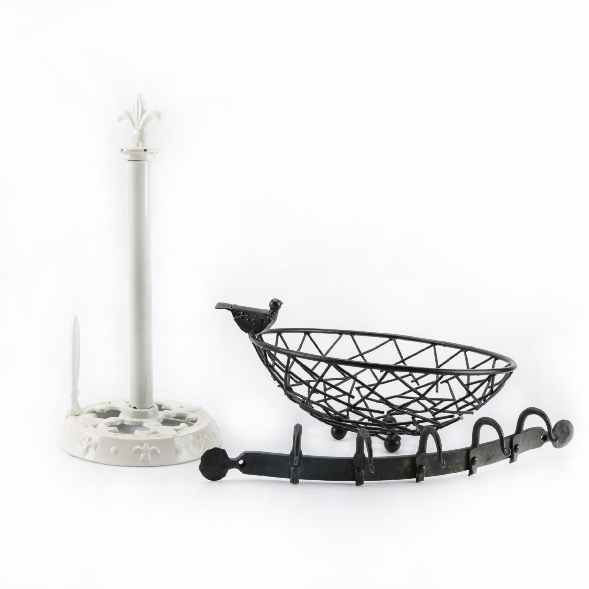 Metalwork Pot Holder and Other Kitchen Decor
