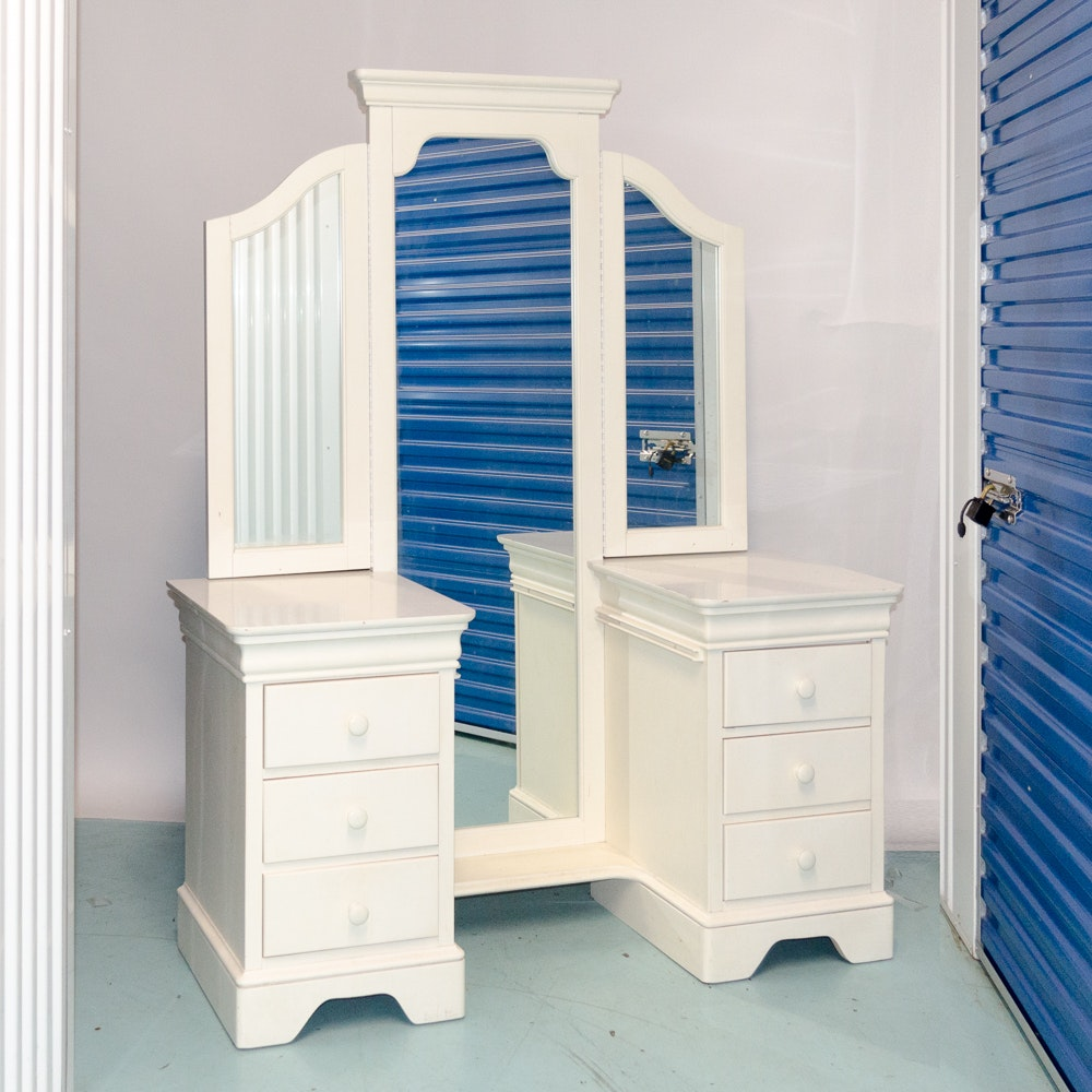 Stanley Furniture Mirror with Two Chests