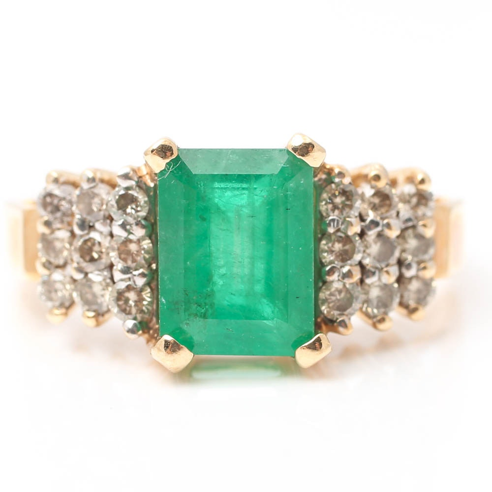 Le Vian 14K Yellow Gold Emerald and Diamond Ring