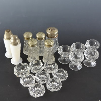 Vintage Glass Salts and Shakers