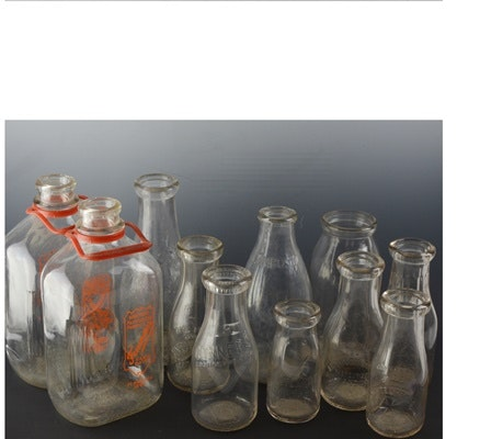 Collection of Glass Dairy Bottles