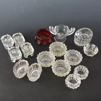 Collection of Individual Vintage Glass Salts