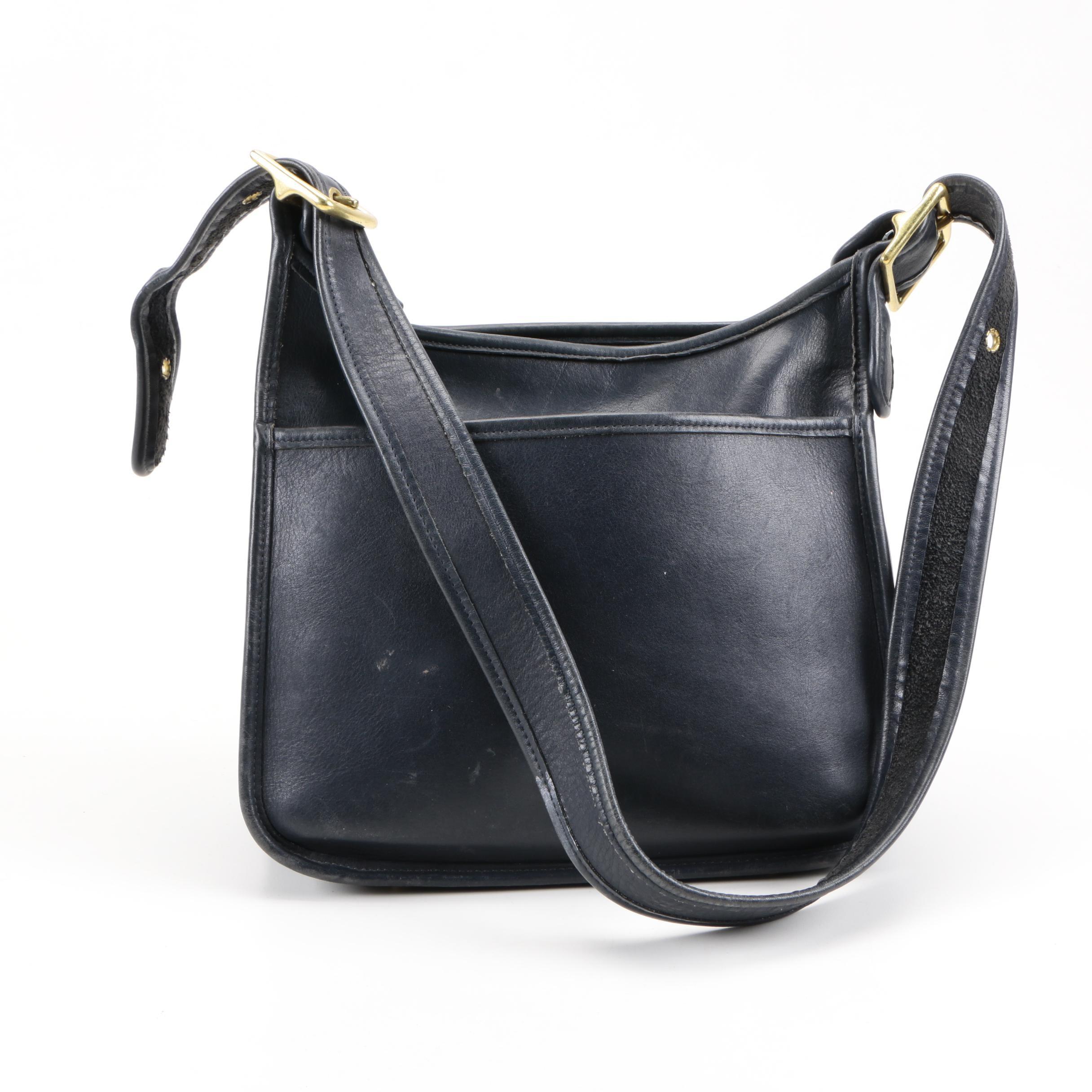 Vintage Coach Navy Blue Leather Legacy Handbag