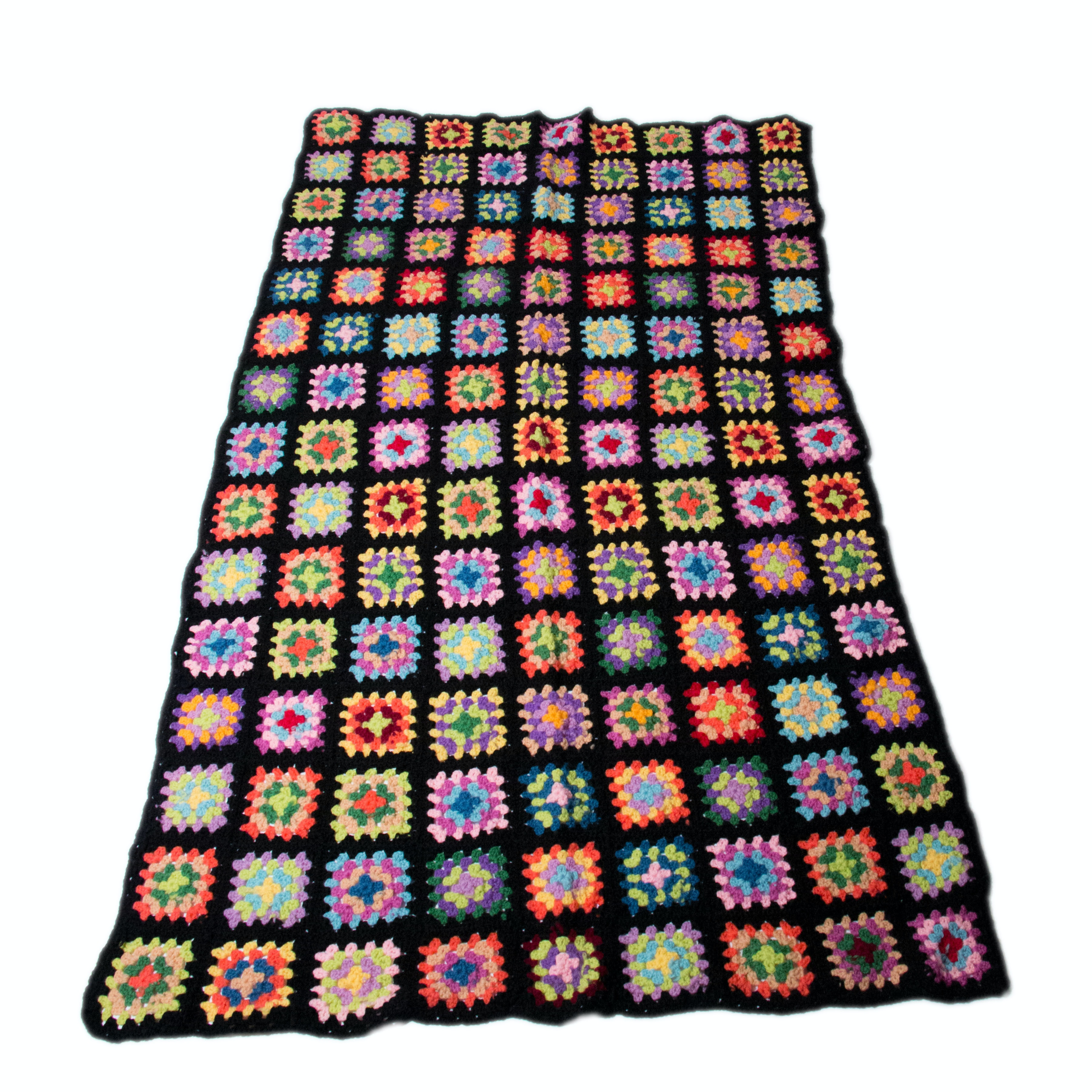 "Hand-Crocheted ""Granny Square"" Afghan"