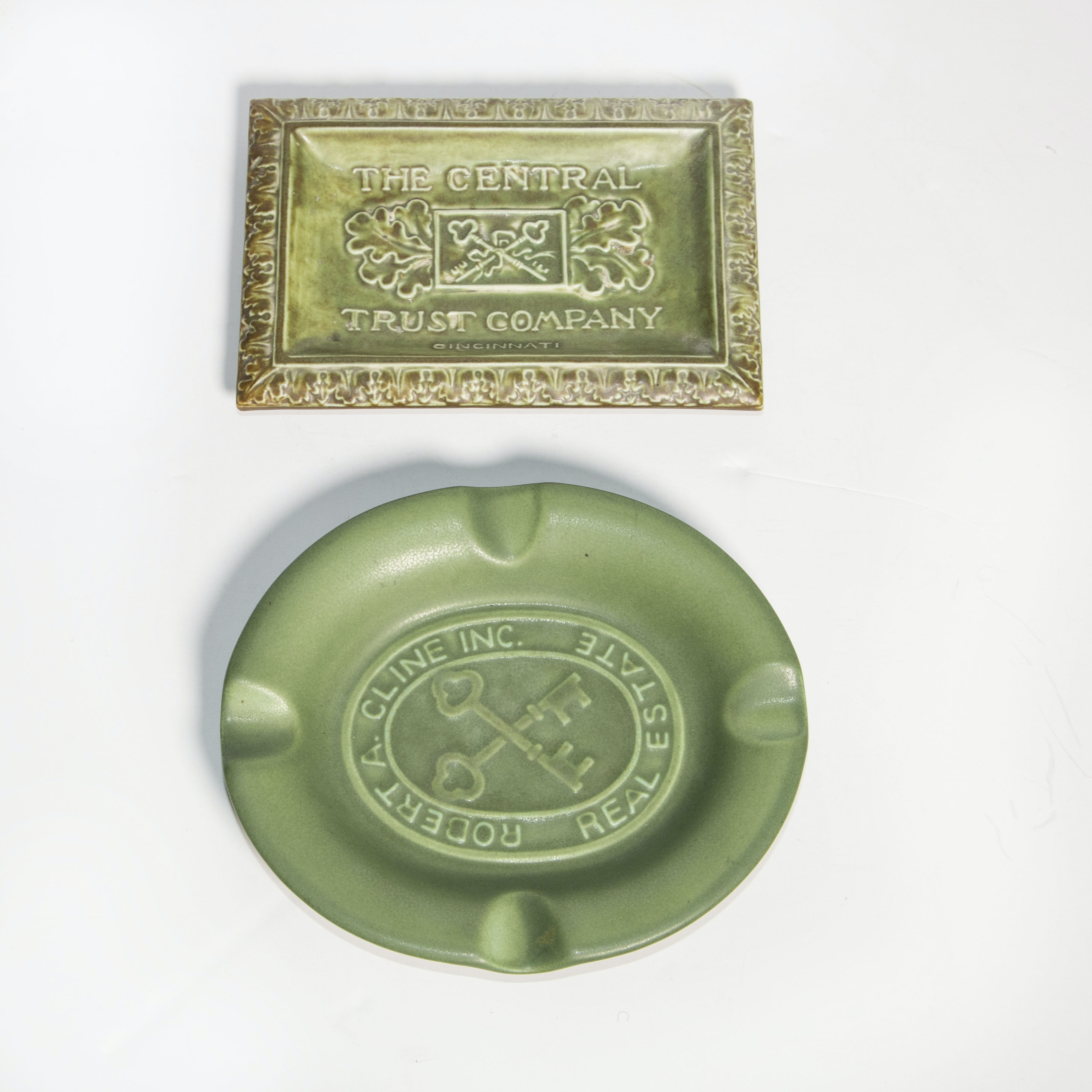 Rookwood Pottery Dish and Ash Receiver