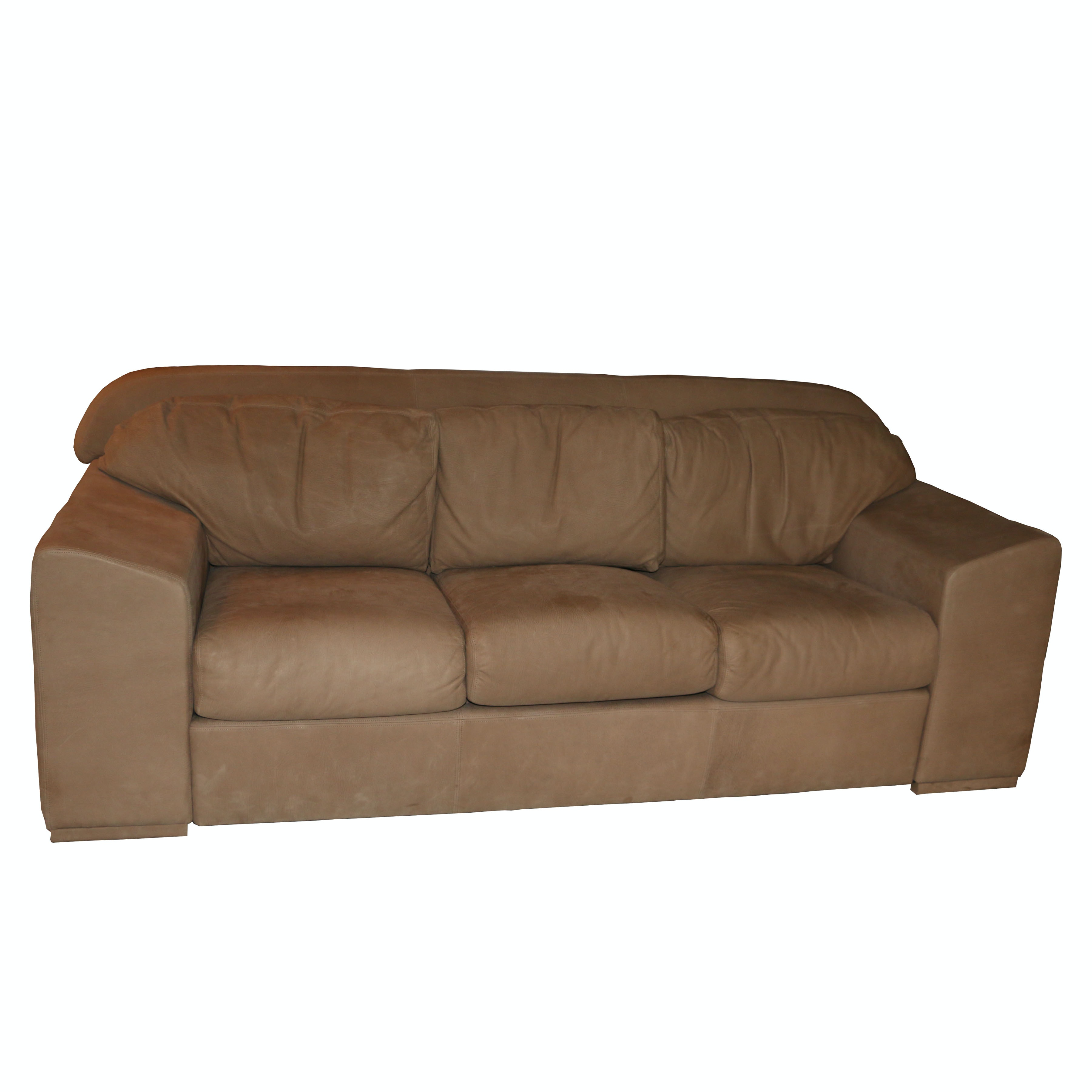 Contemporary Leather Sofa by Leathercract