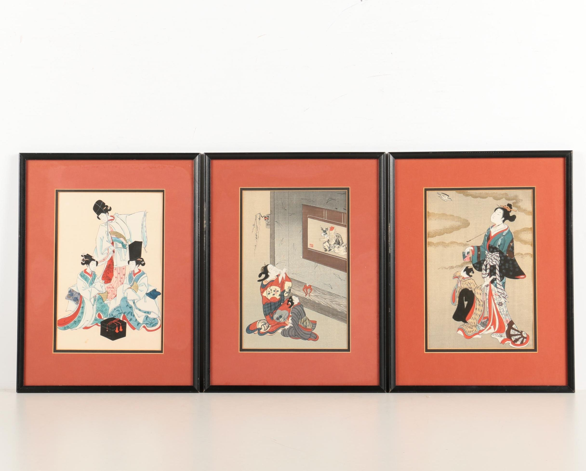 Assortment of Japanese Woodblock Prints