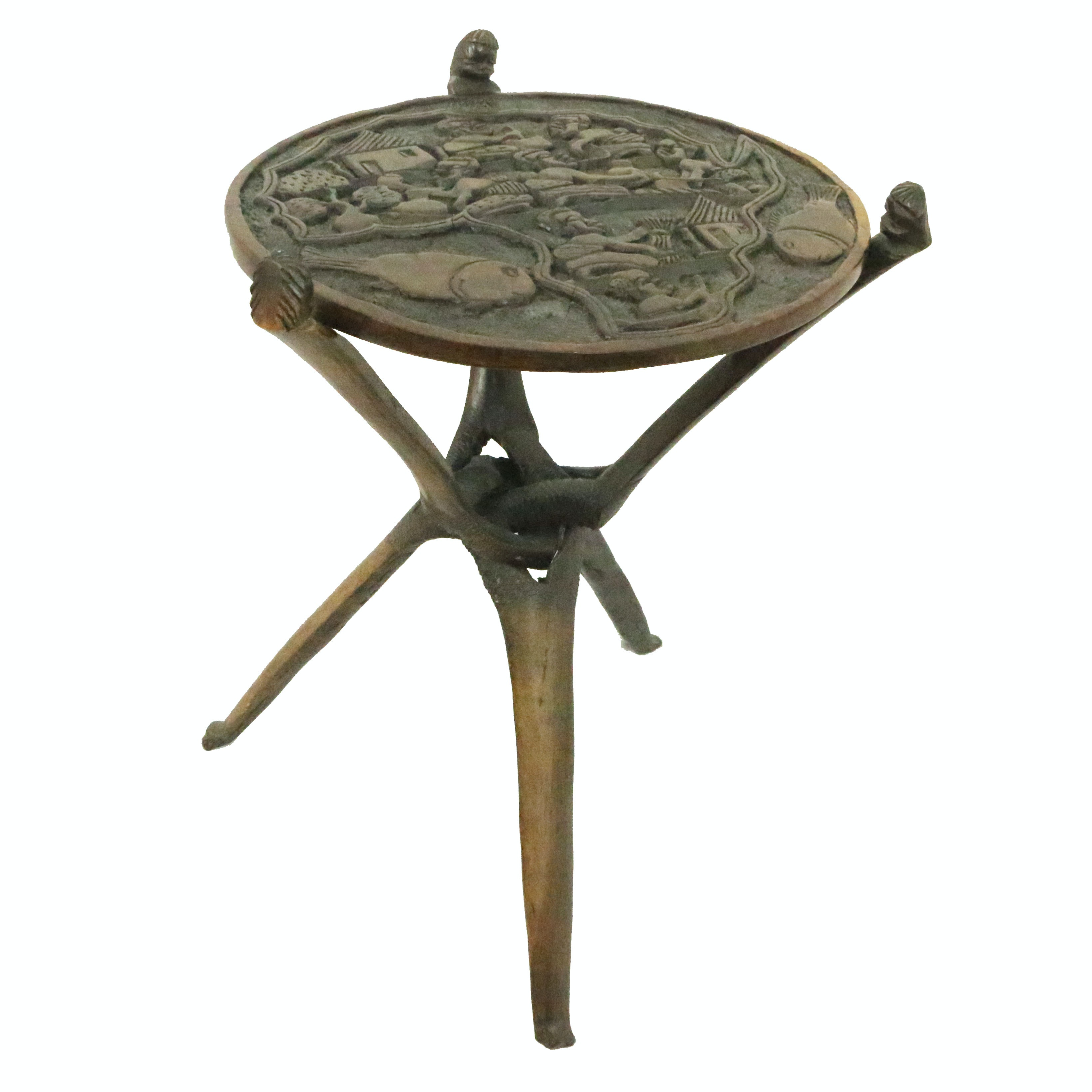 African Style Carved Table