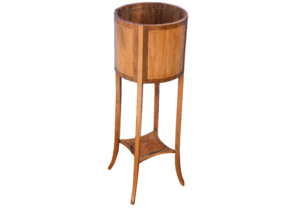 Antique Regency Style Wood Plant Stand