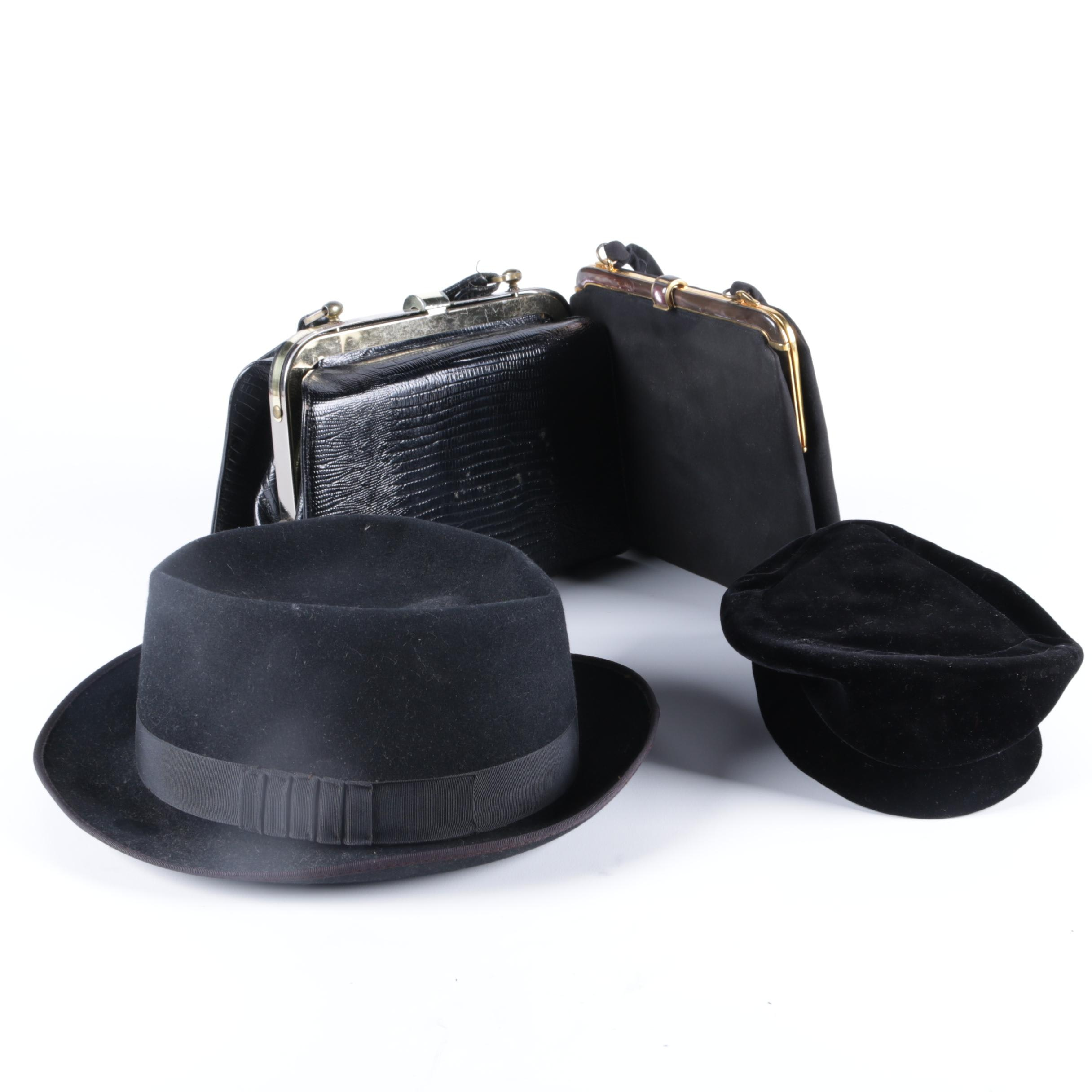 Vintage Hats and Handbags Including MadCaps