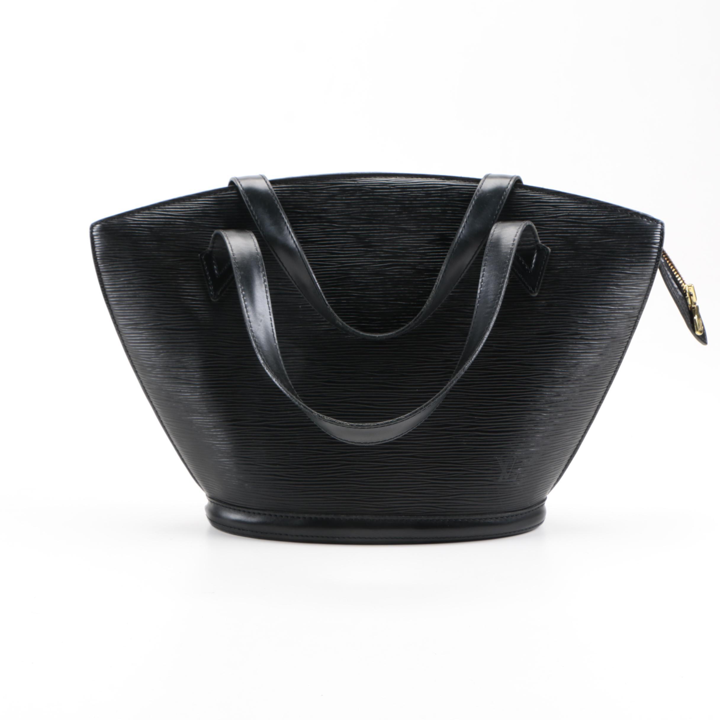 Louis Vuitton Black Saint Jacques Epi Leather Bag