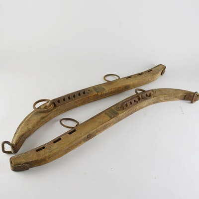 Antique Wood and Metal Horse Harness