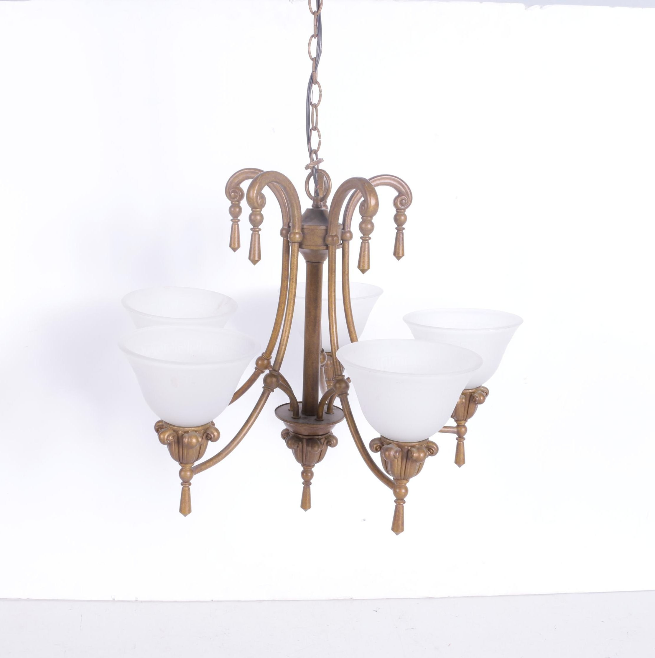 Hanging Light Fixture with Glass Shades