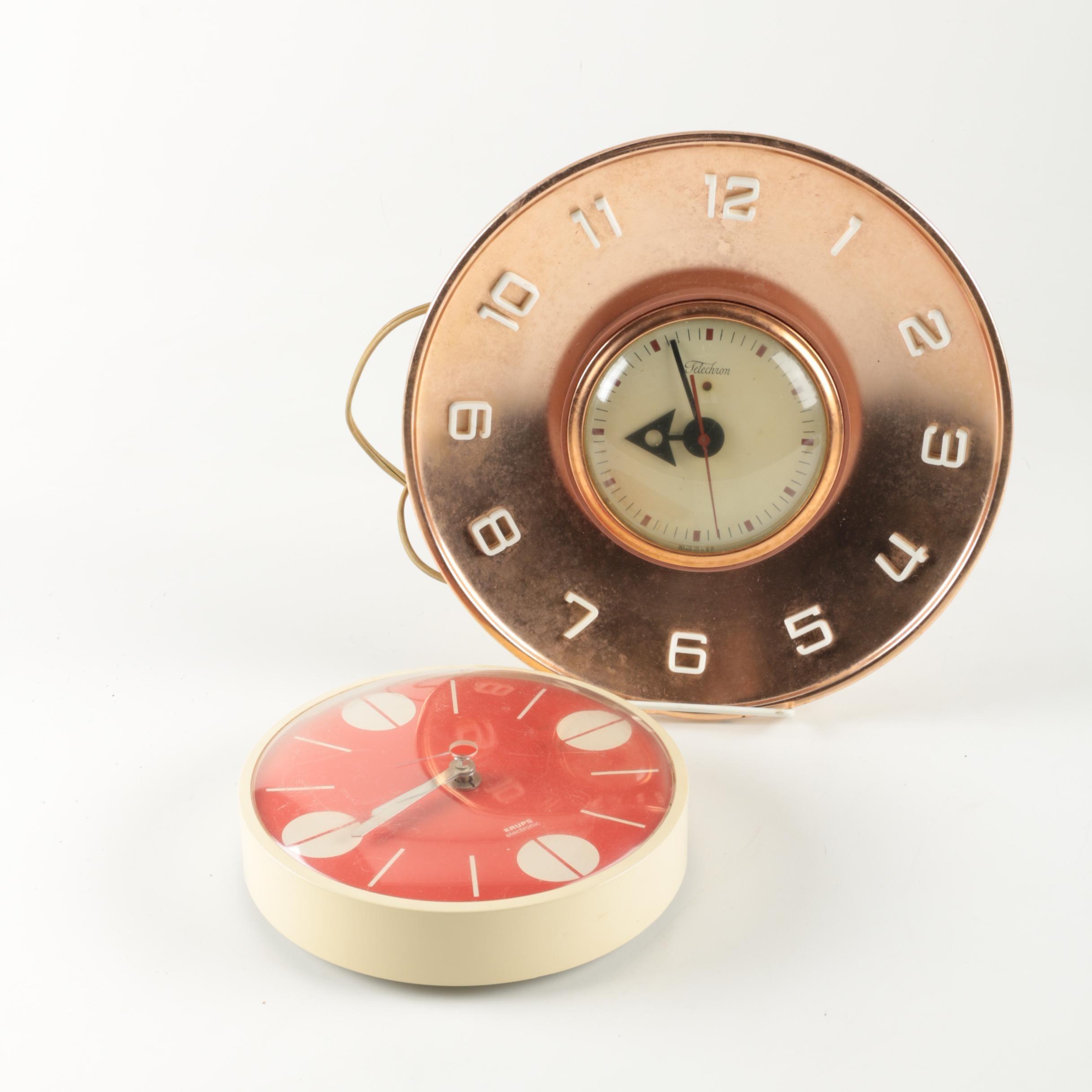 Vintage  Mid Century Wall Clocks