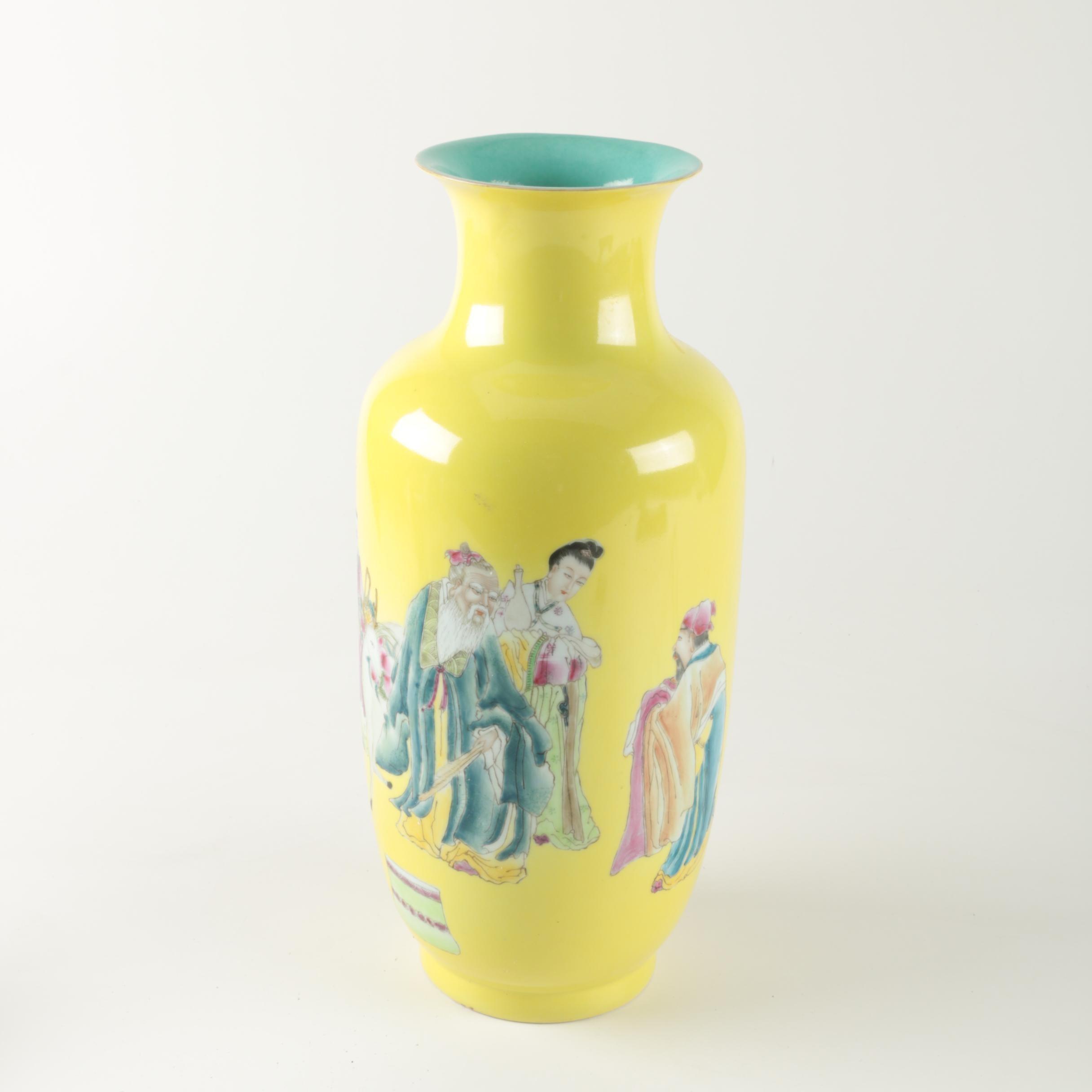 Chinese Ceramic Figural Vase