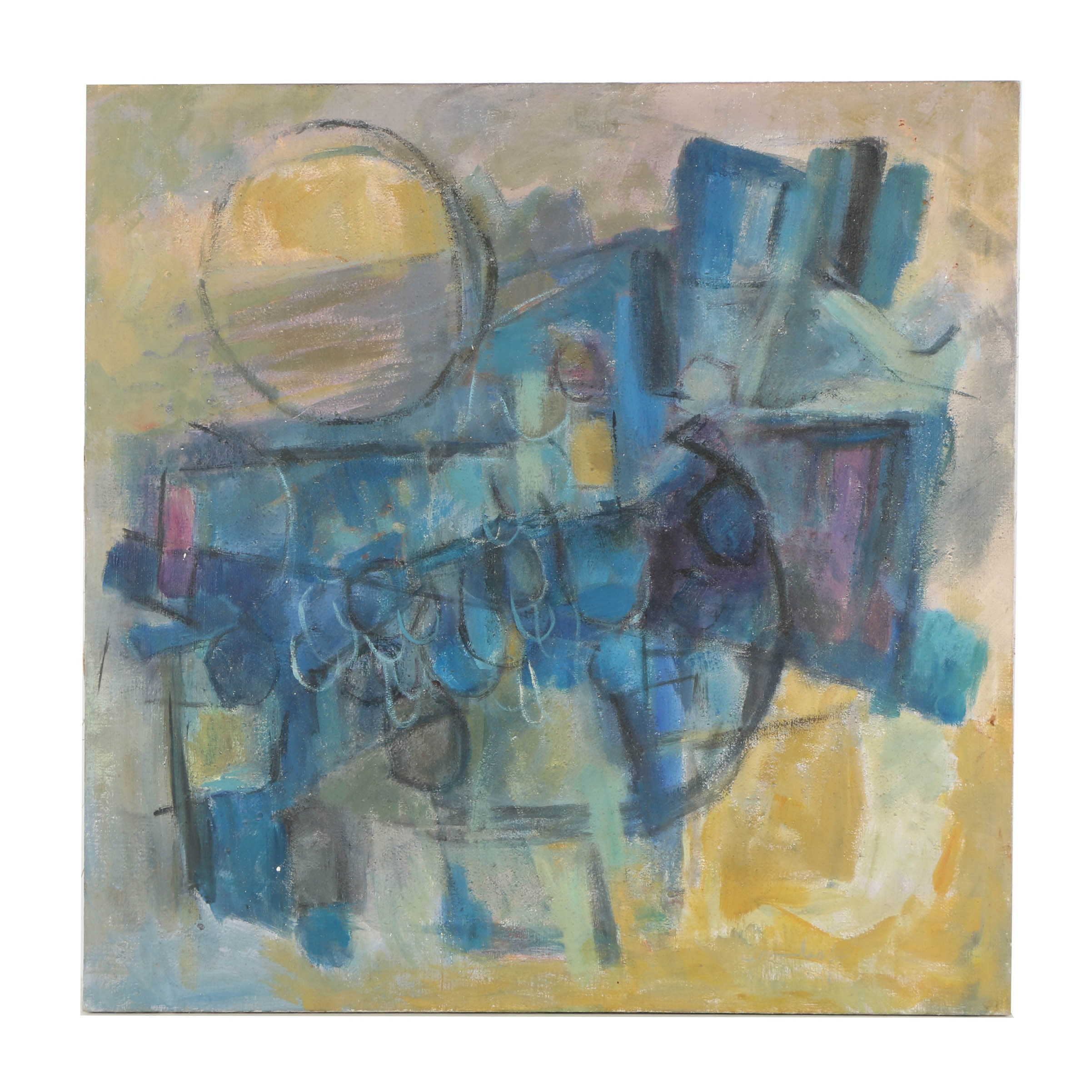 Oil Painting on Canvas Abstract Expressionist Style Composition