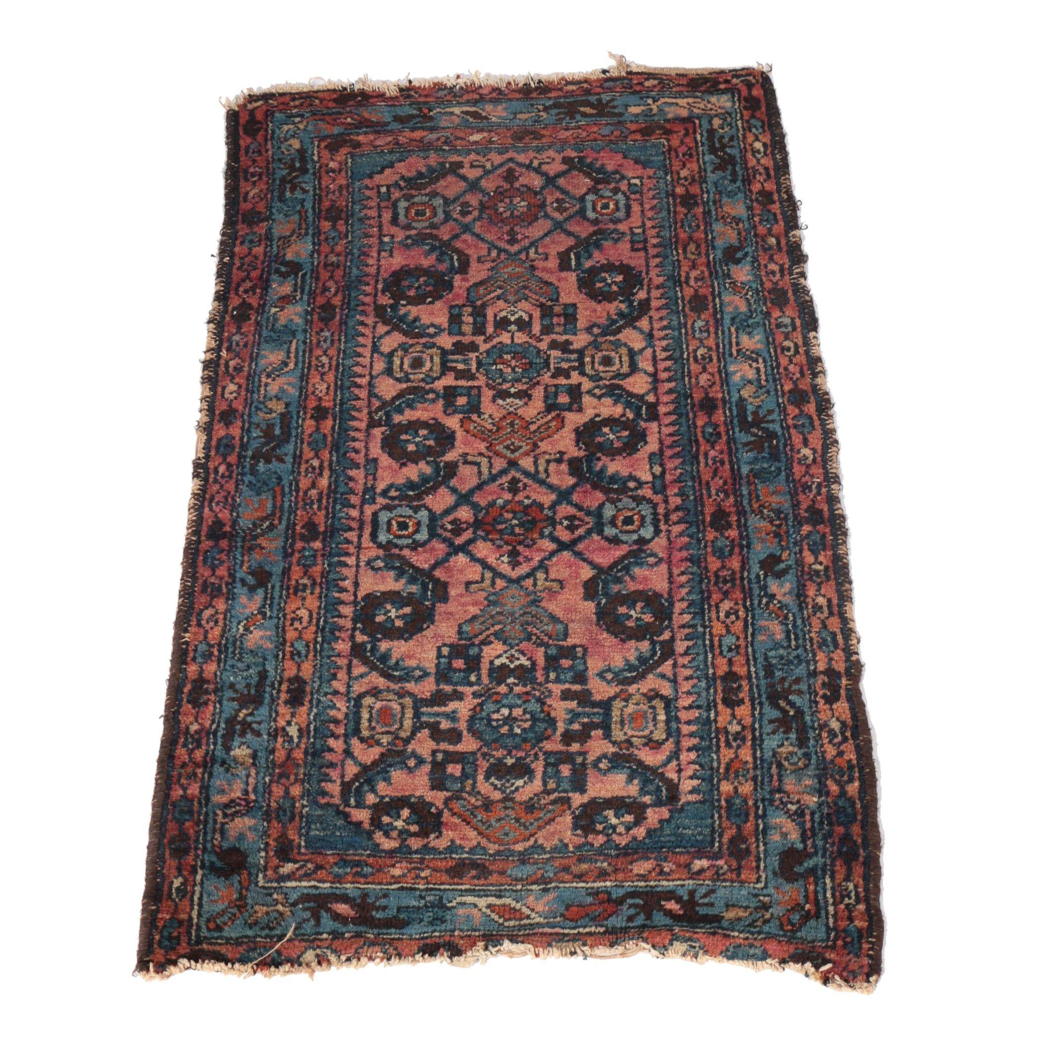 Hand-Knotted Turkish Bijar Wool Accent Rug