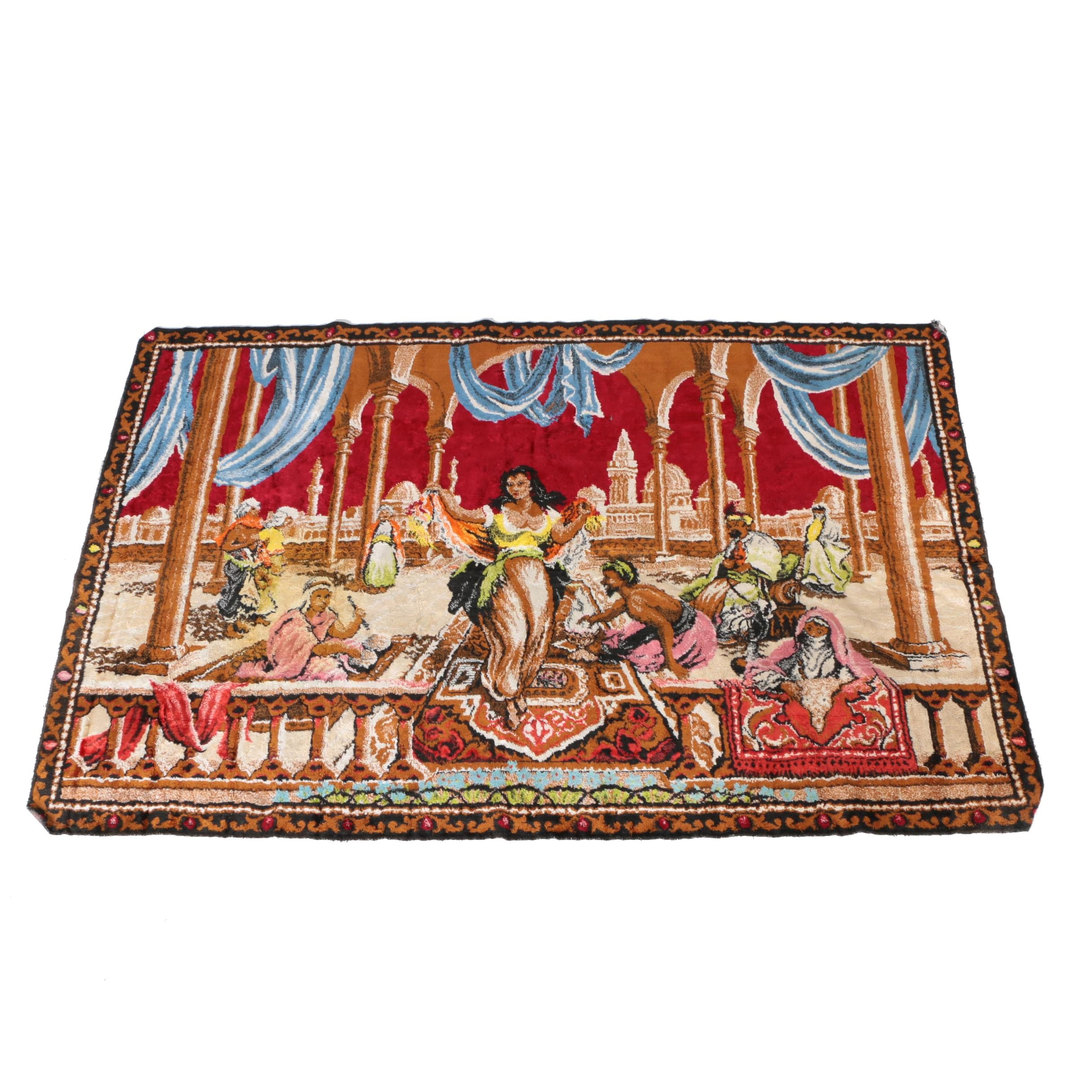 Vintage Persian Style Figural Tapestry