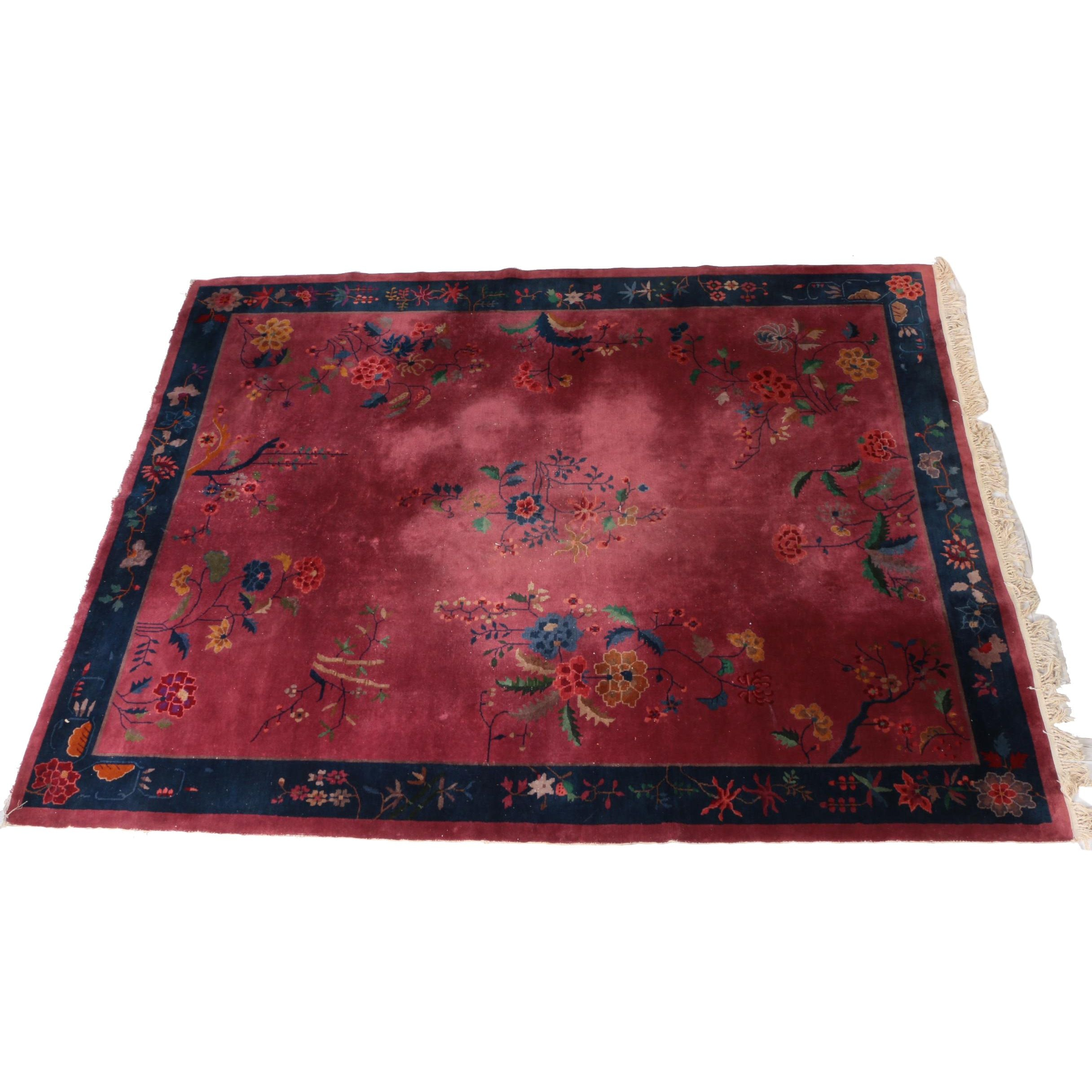 Hand-Knotted Chinese Nichols Wool Area Rug