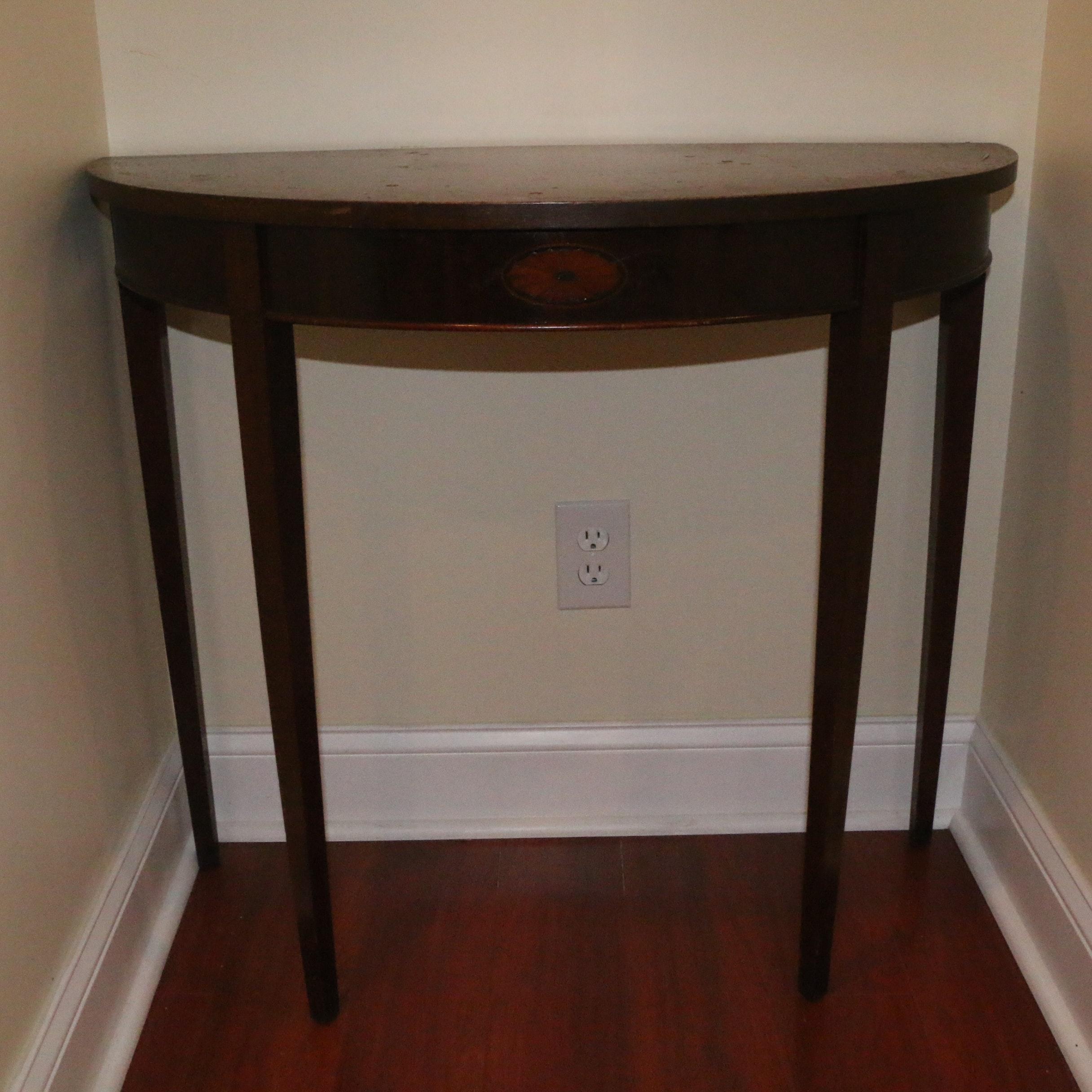 Hepplewhite Style Demi-Lune Table