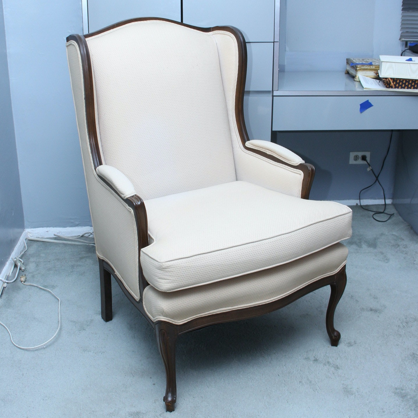 Upholstered Wingback Armchair