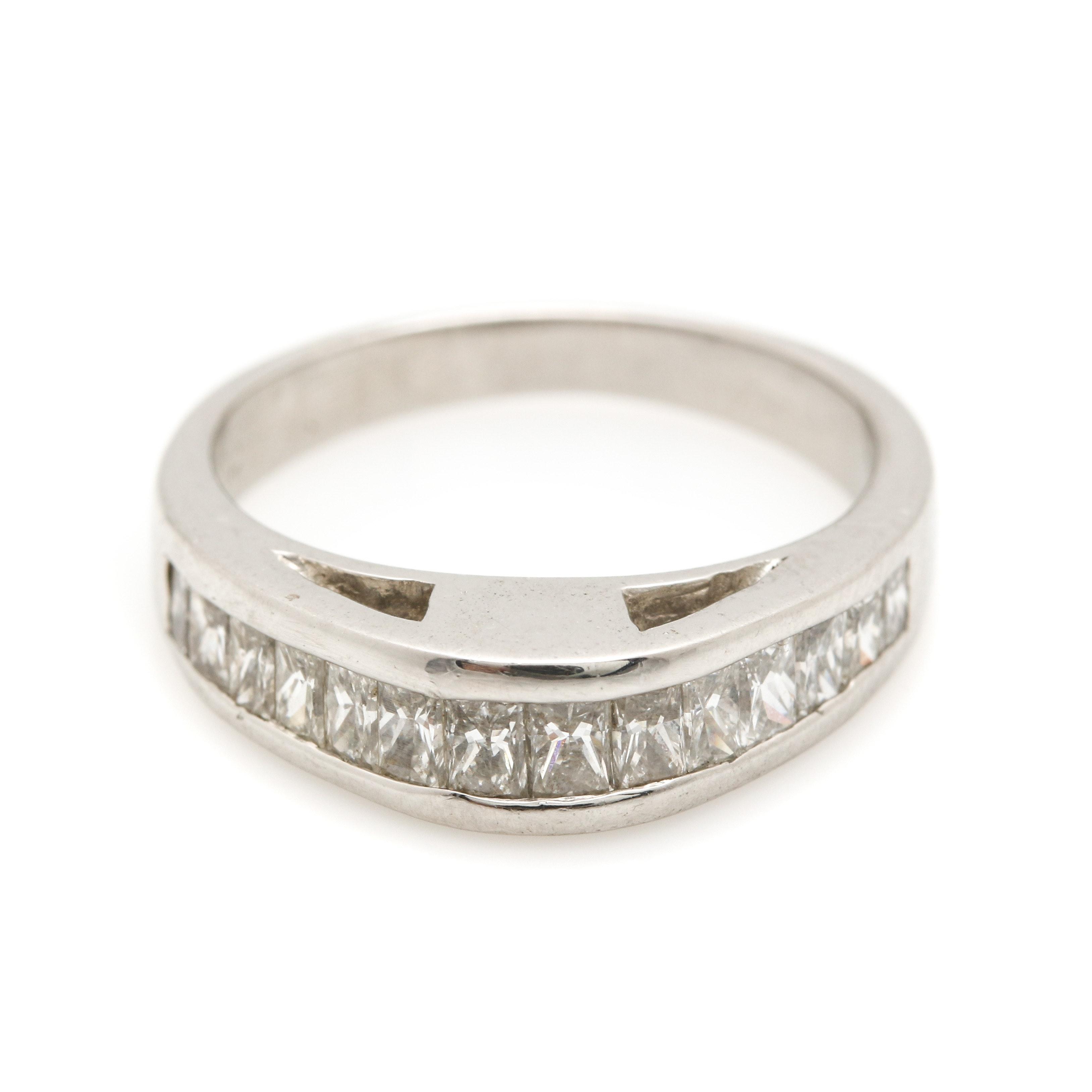 Platinum 1.05 CTW Diamond Ring