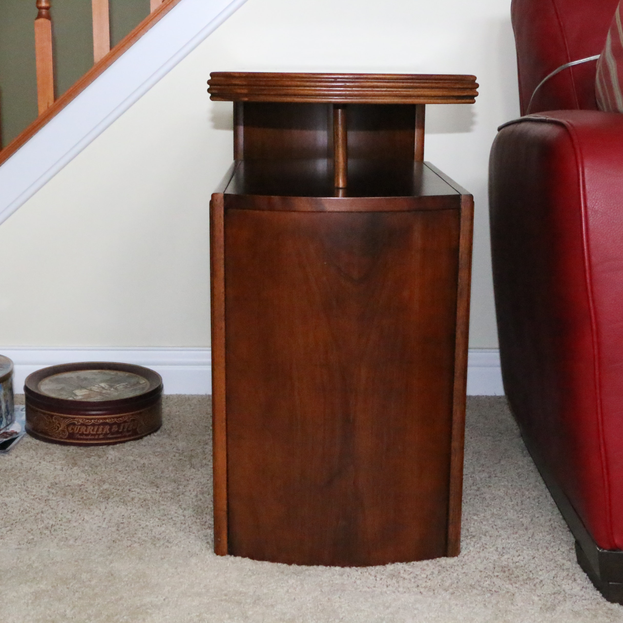 Modern Style Cherry Accent Table