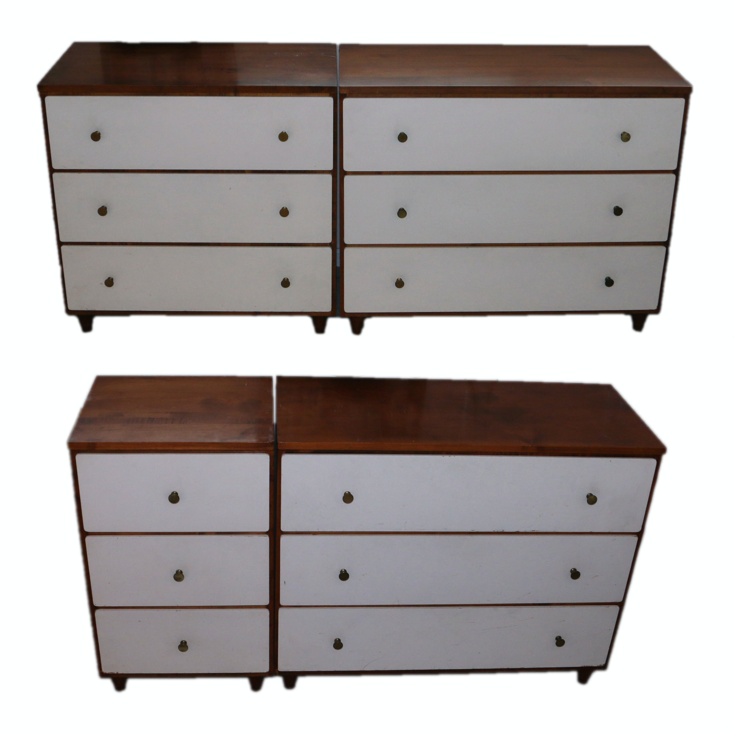 Set of Four Mid Century Modern Modular Chests of Drawers