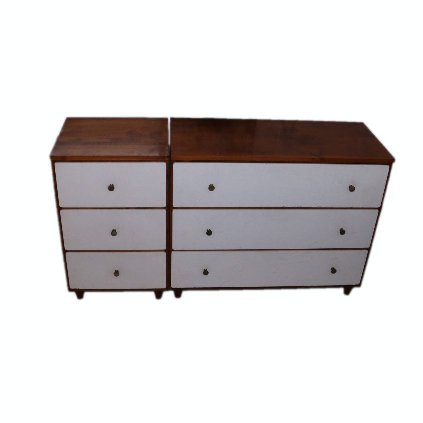 Set of four mid century modern modular chests of drawers for Mid century modern modular homes