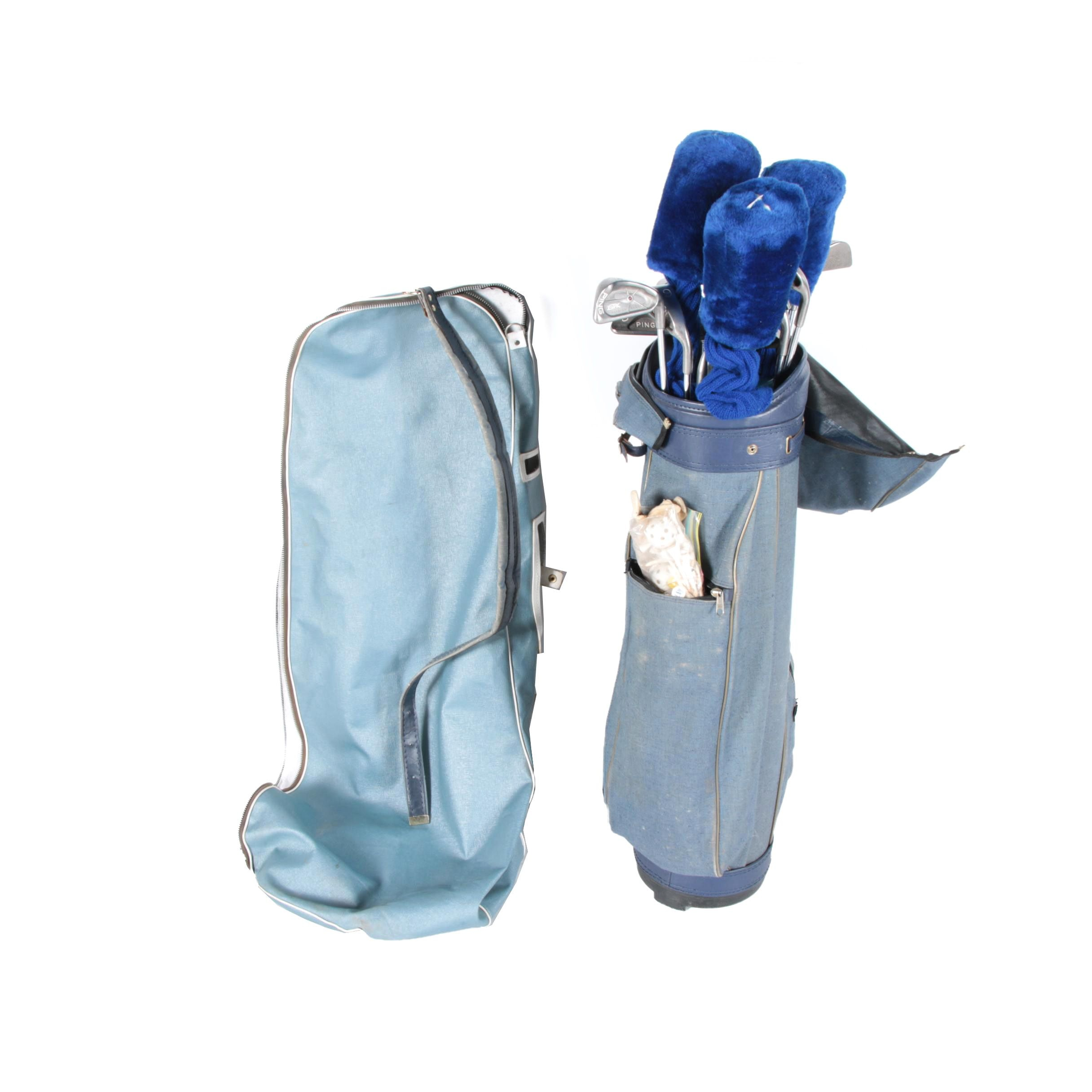 Promaster Golf Bag with Clubs and Accessories