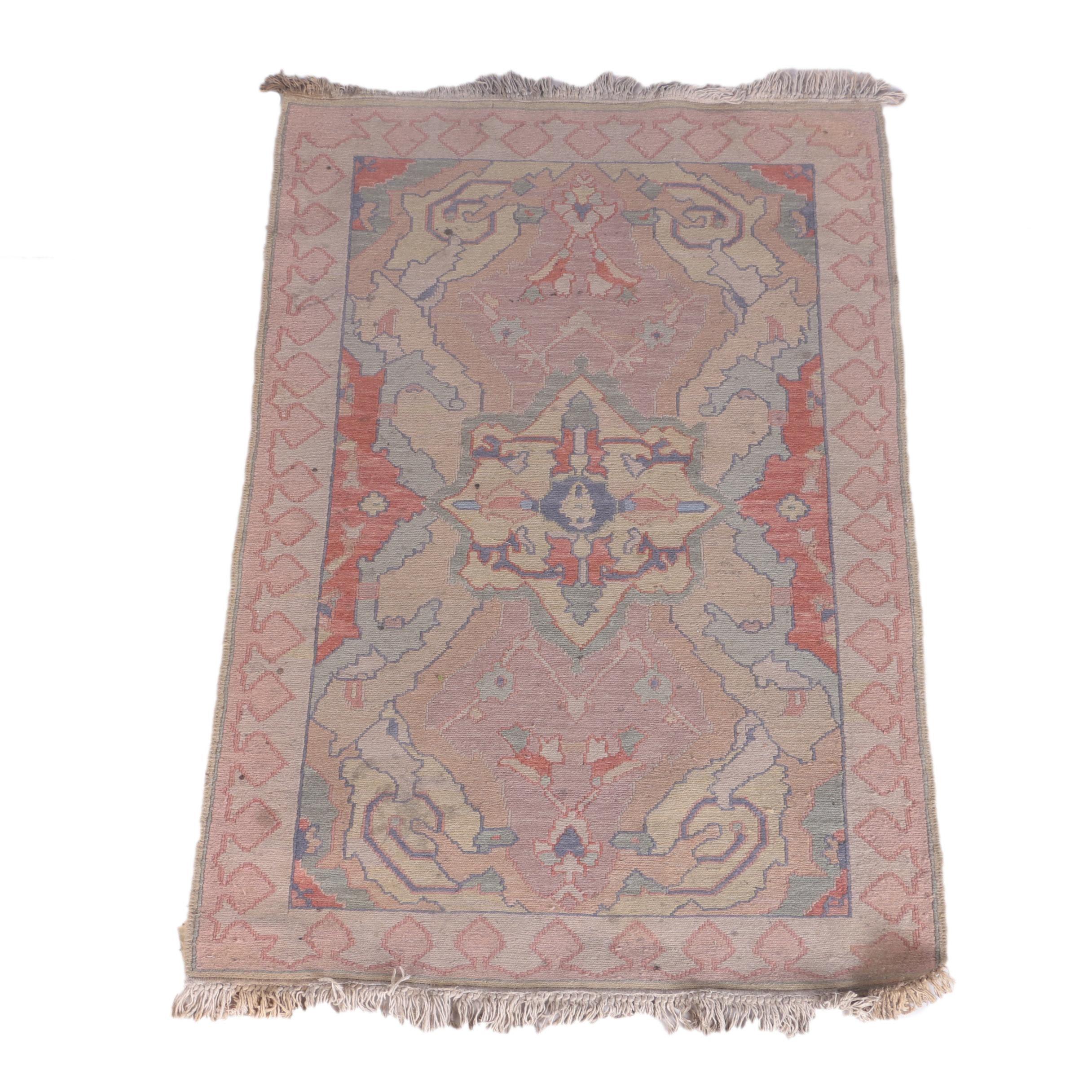 Handwoven Chinese Soumak Wool Area Rug
