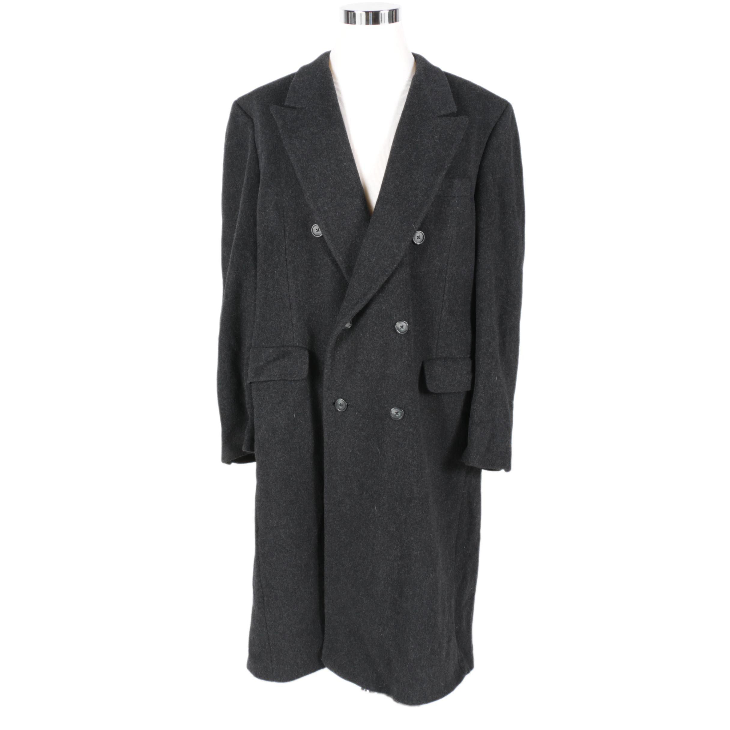 Christian Dior Monsieur Black Wool Coat