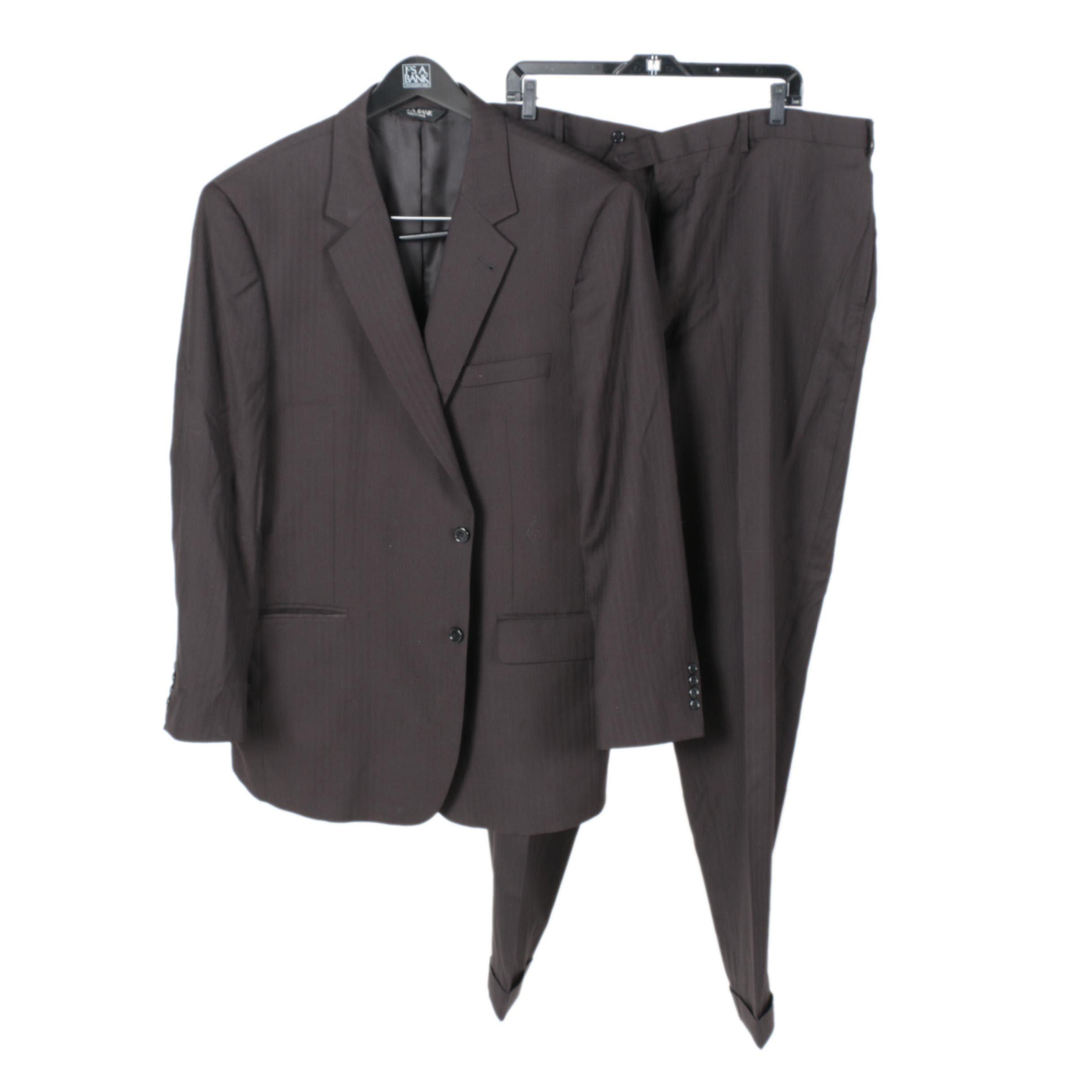 Men's Jos. A. Bank Black Suit