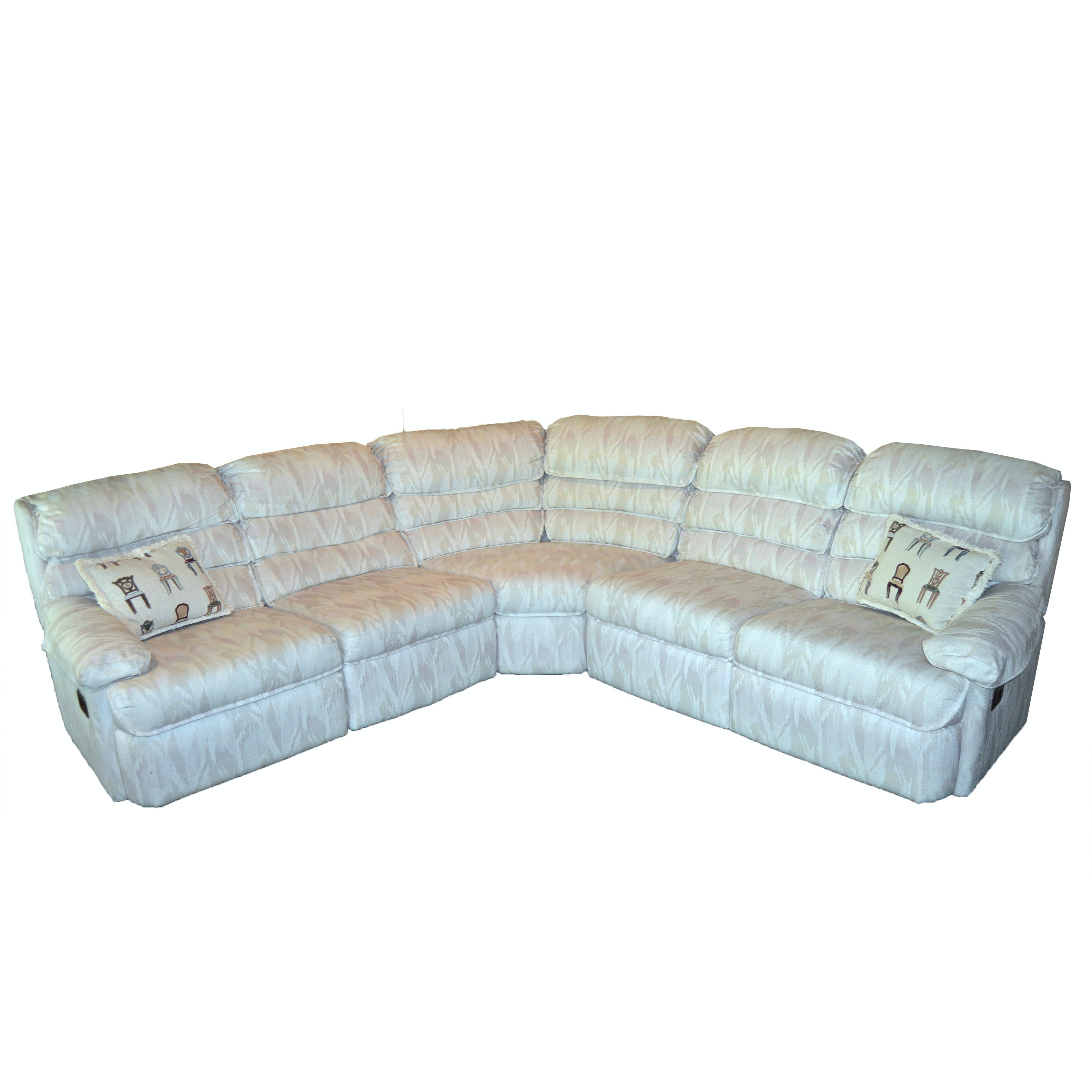 Sectional Sofa with Built-In Recliners