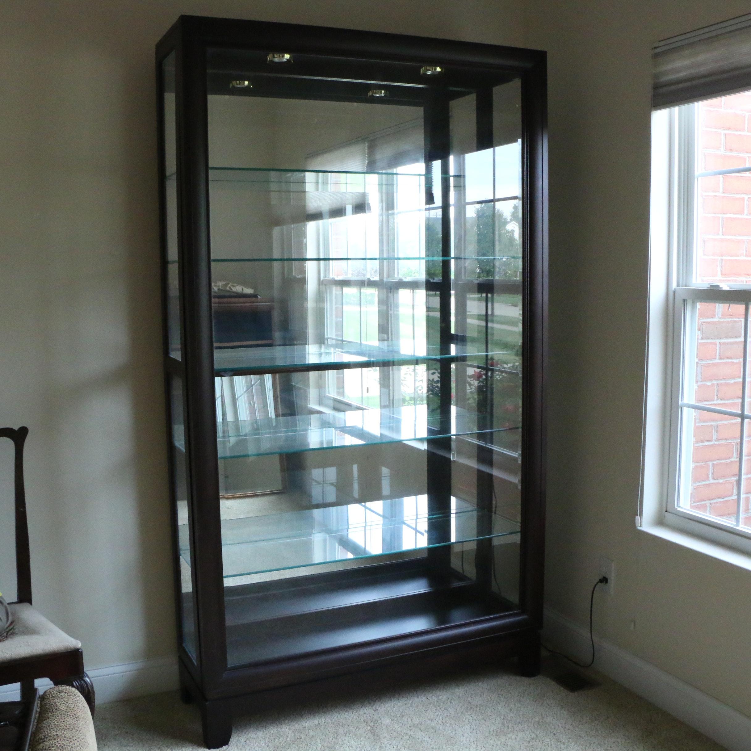 Sliding Front Illuminated Display Cabinet