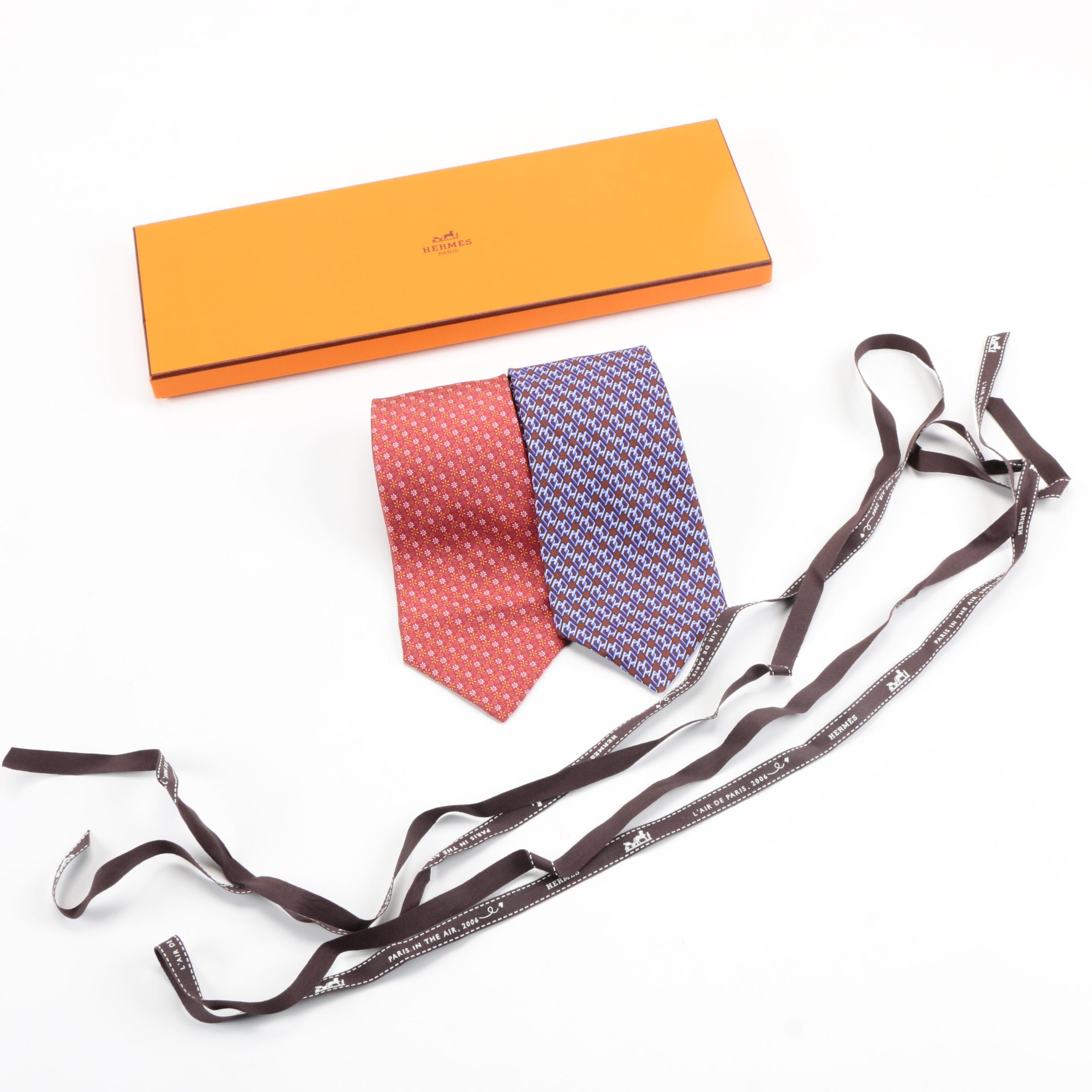 Hermès Silk Neckties