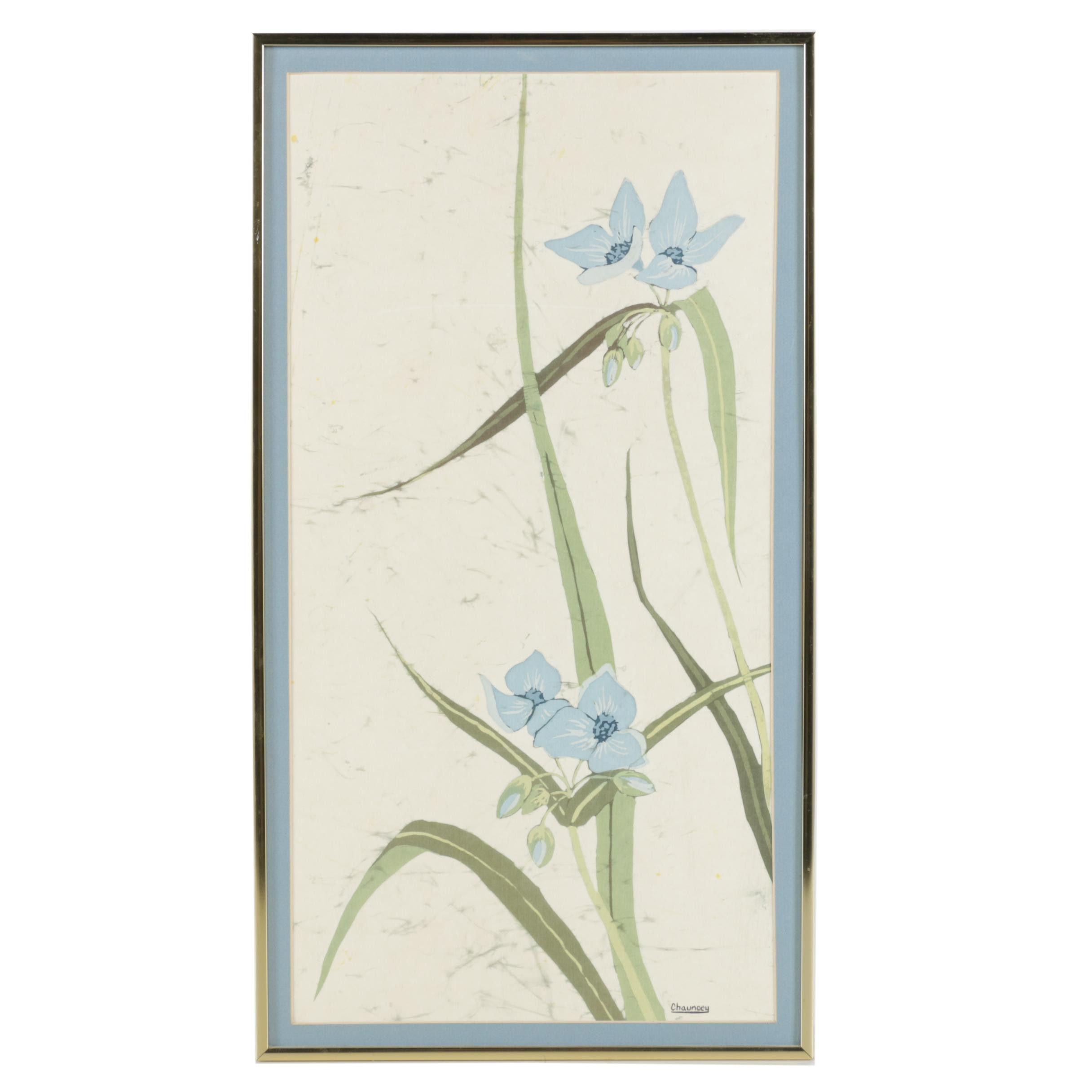 Chauncey Nelson Batik of Flowers