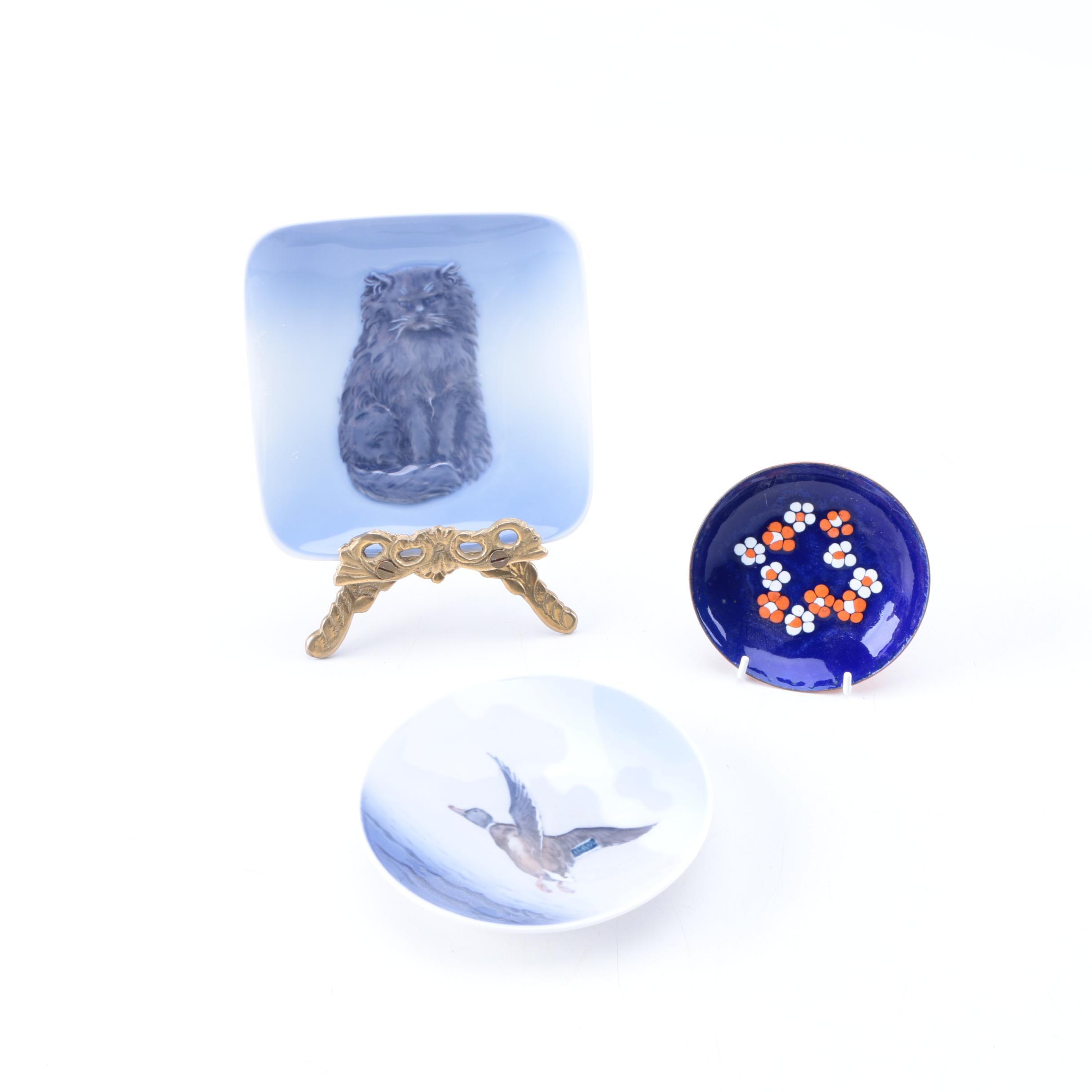 Ceramic and Metal Decor including Royal Copenhagen