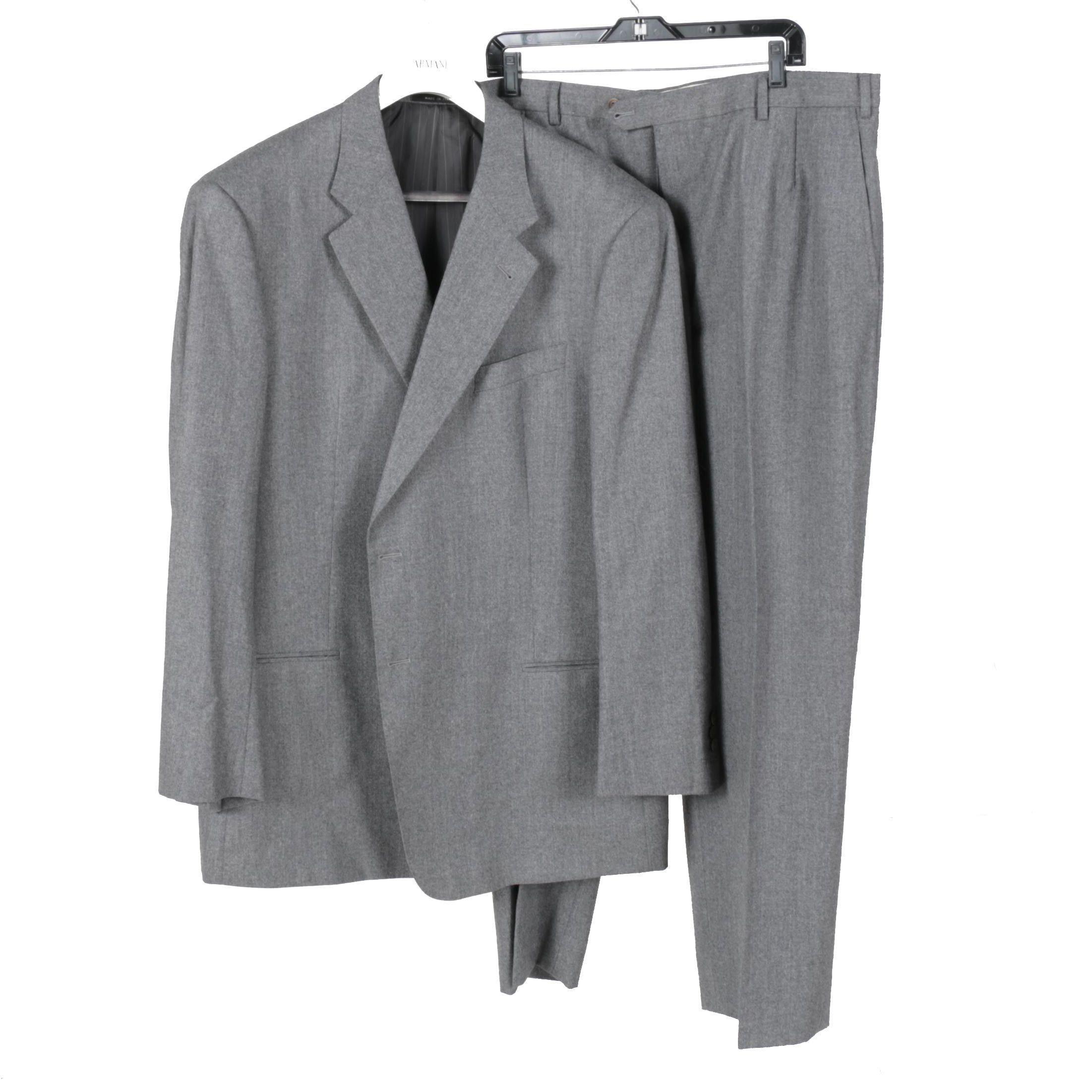 Men's Armani Collezioni Grey Wool Suit