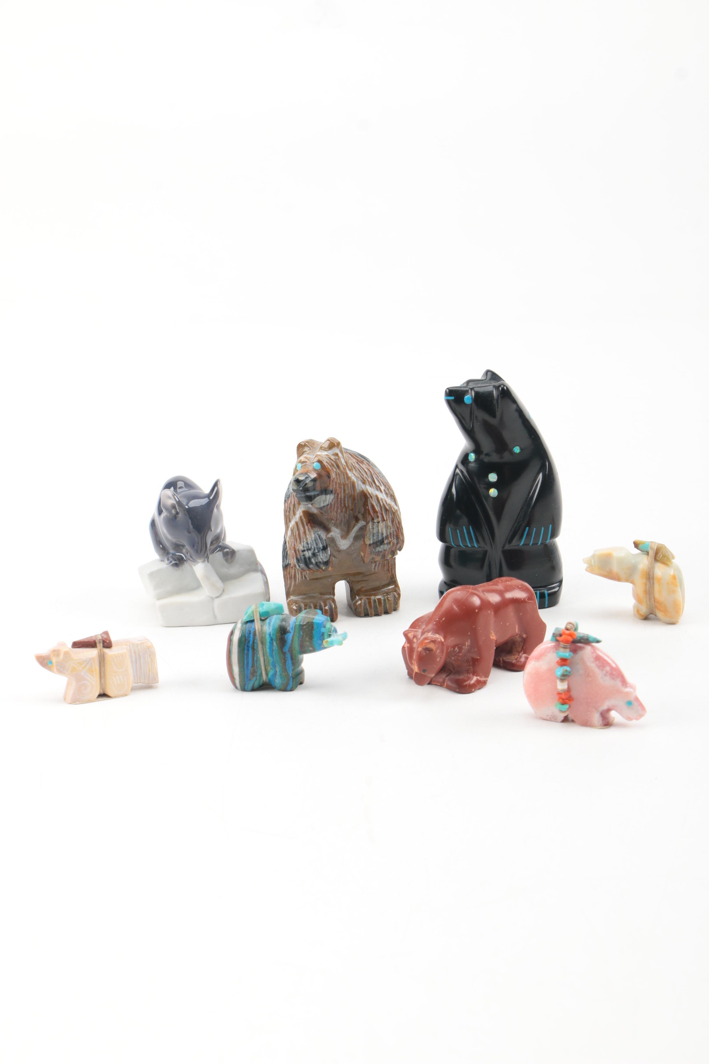 Selection of Zuni Fetish Figurines