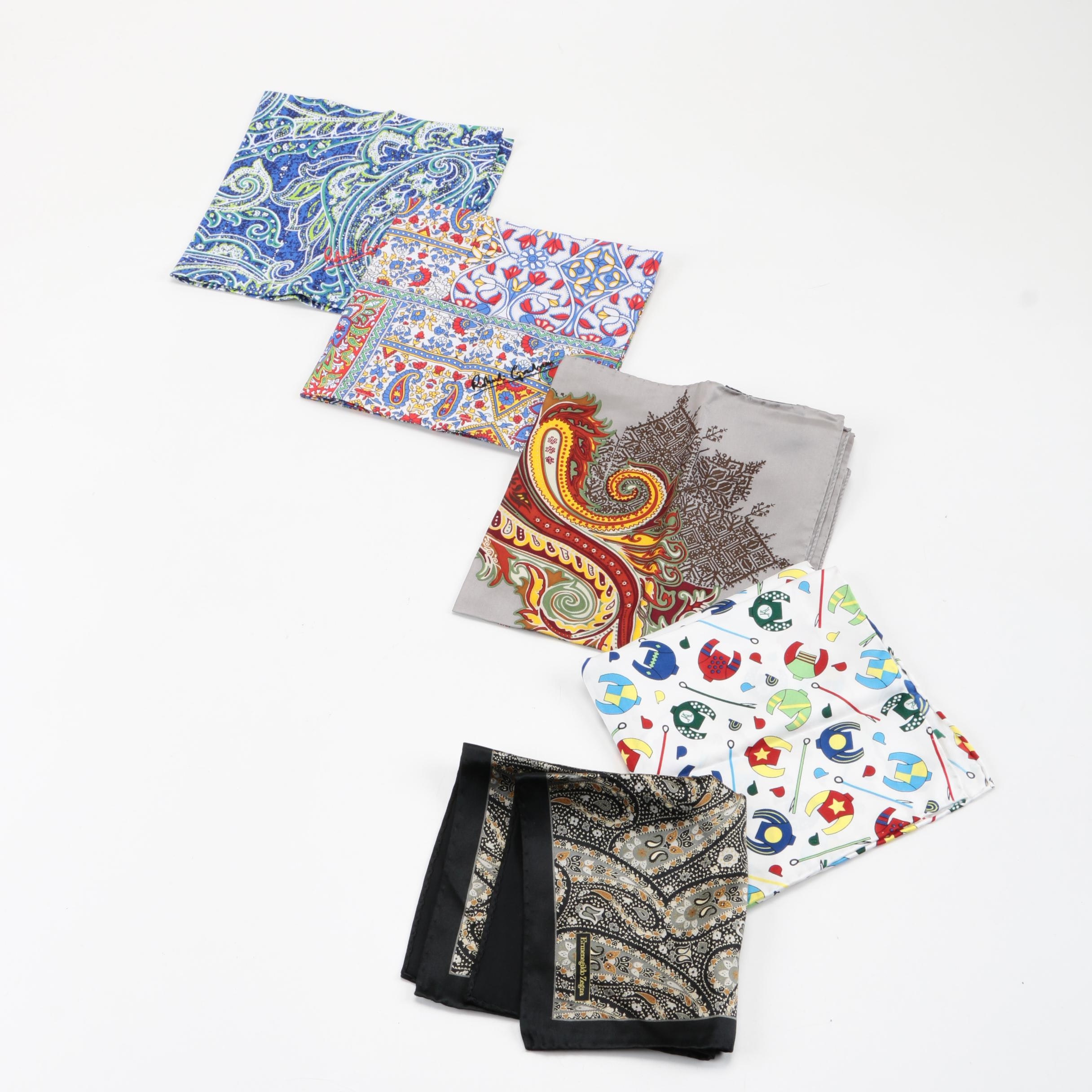 Robert Graham, Etro and Ermenegildo Zegna Pocket Squares
