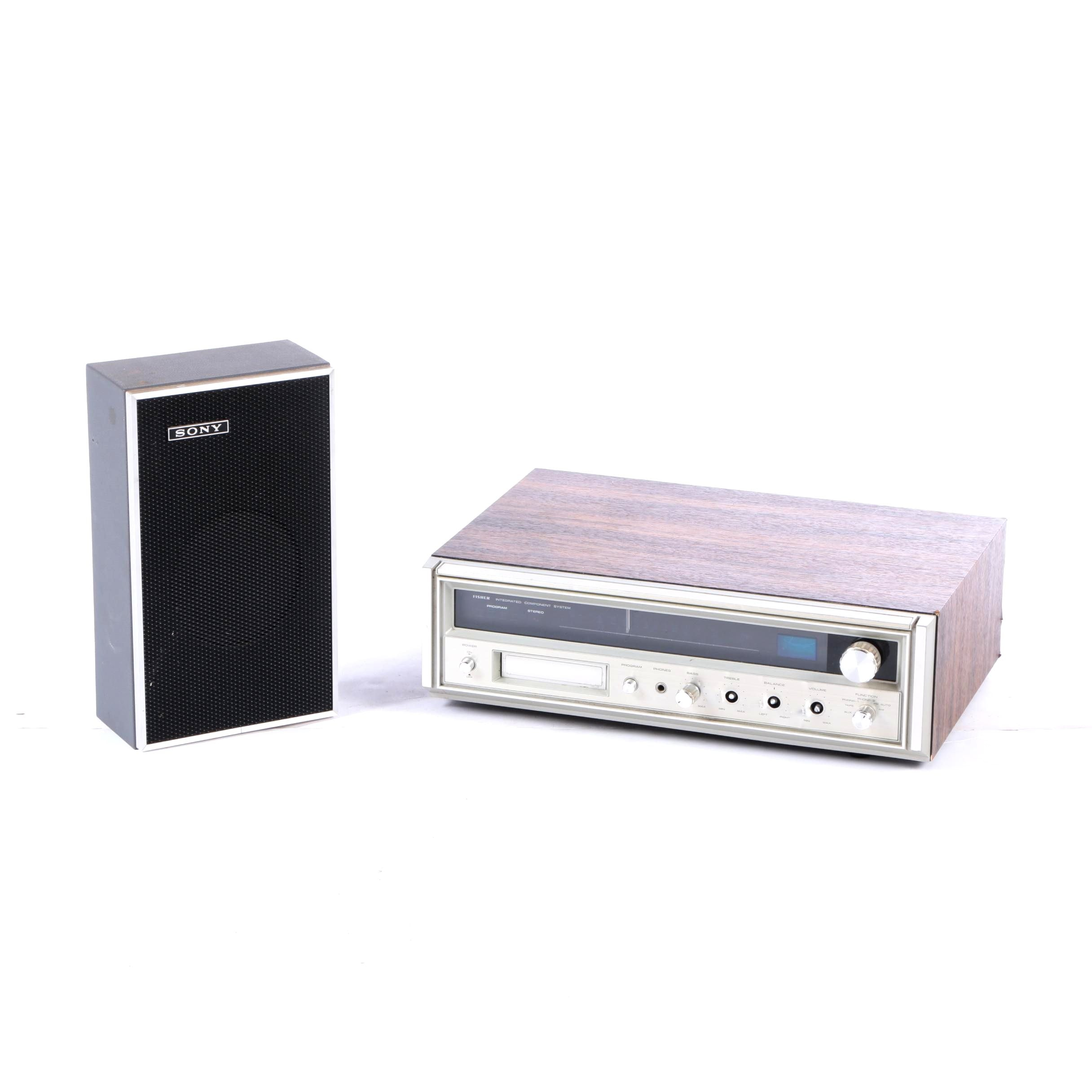 tape player and Sony speaker