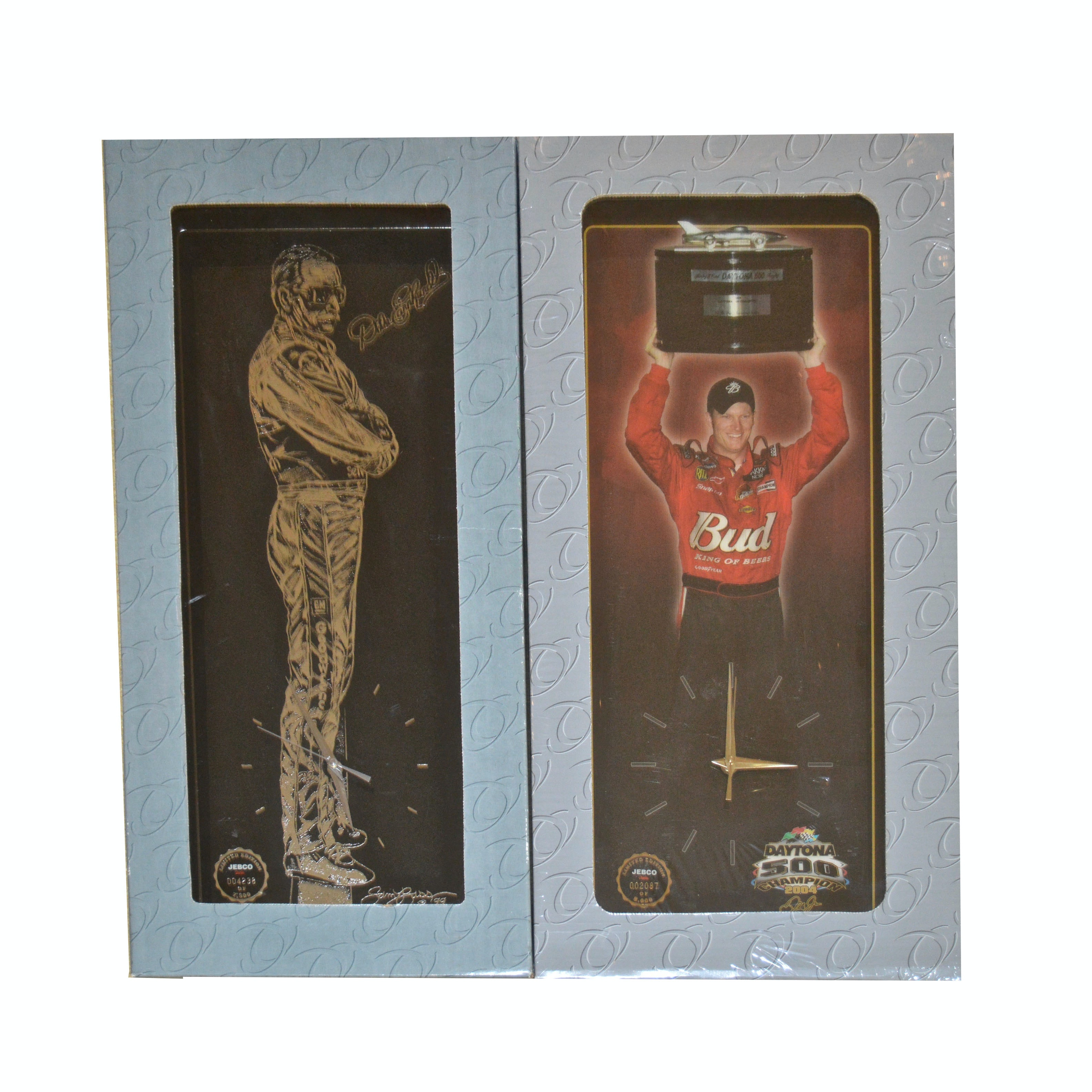 Pair of Limited Edition Jebco Wall Clocks Featuring Dale Earnhardt