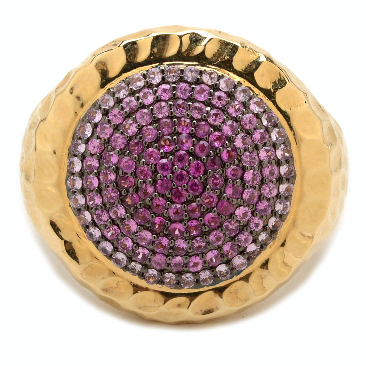 """Phillips Frankel 14K Yellow Gold """"Vibrant Affair"""" Natural Pink Sapphire Ring"""