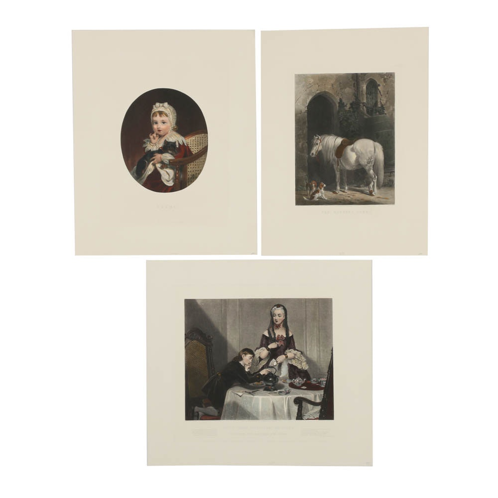 Collection of Reproduction Prints After 19th-Century Paintings
