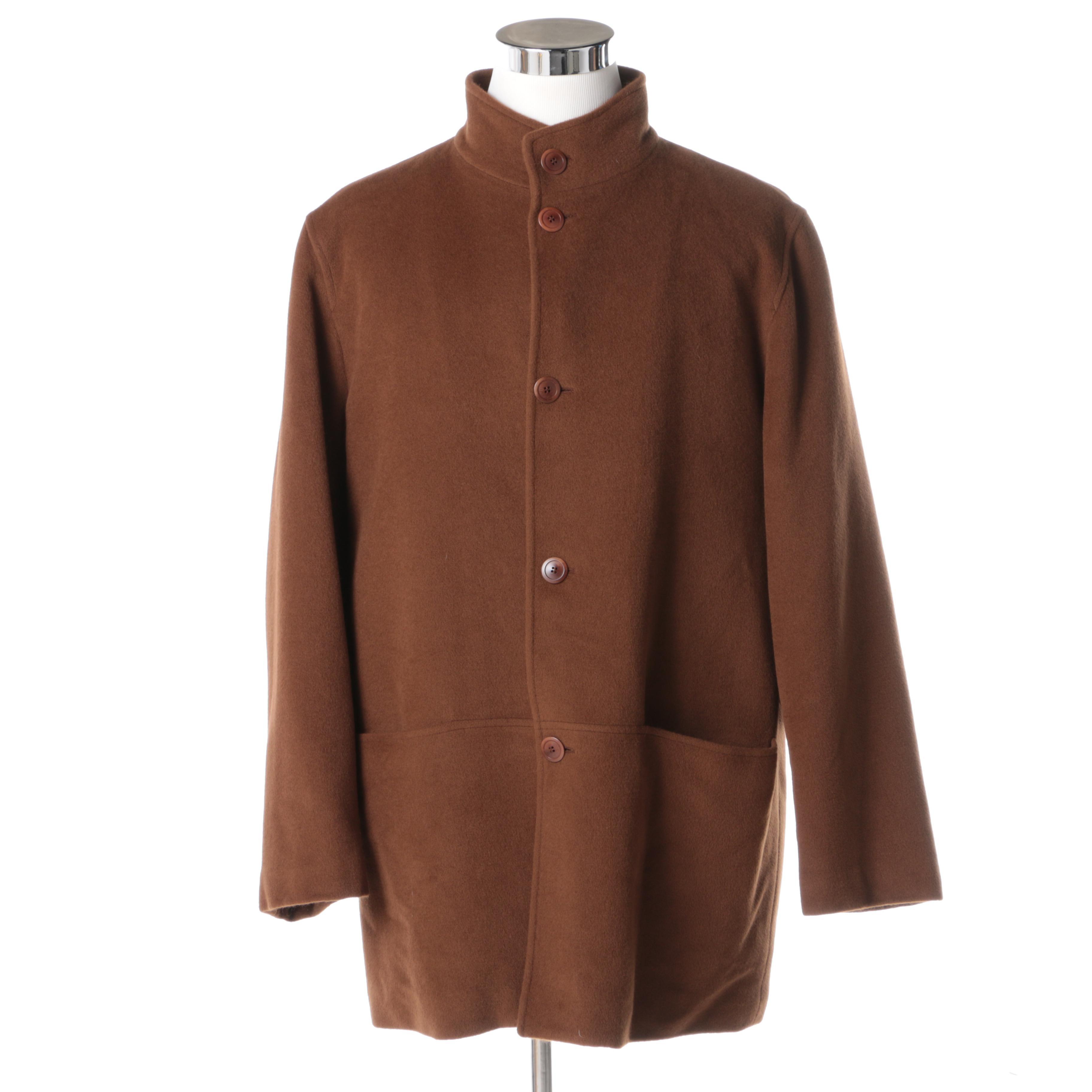 Men's Ermenegildo Zegna Angora Wool Coat