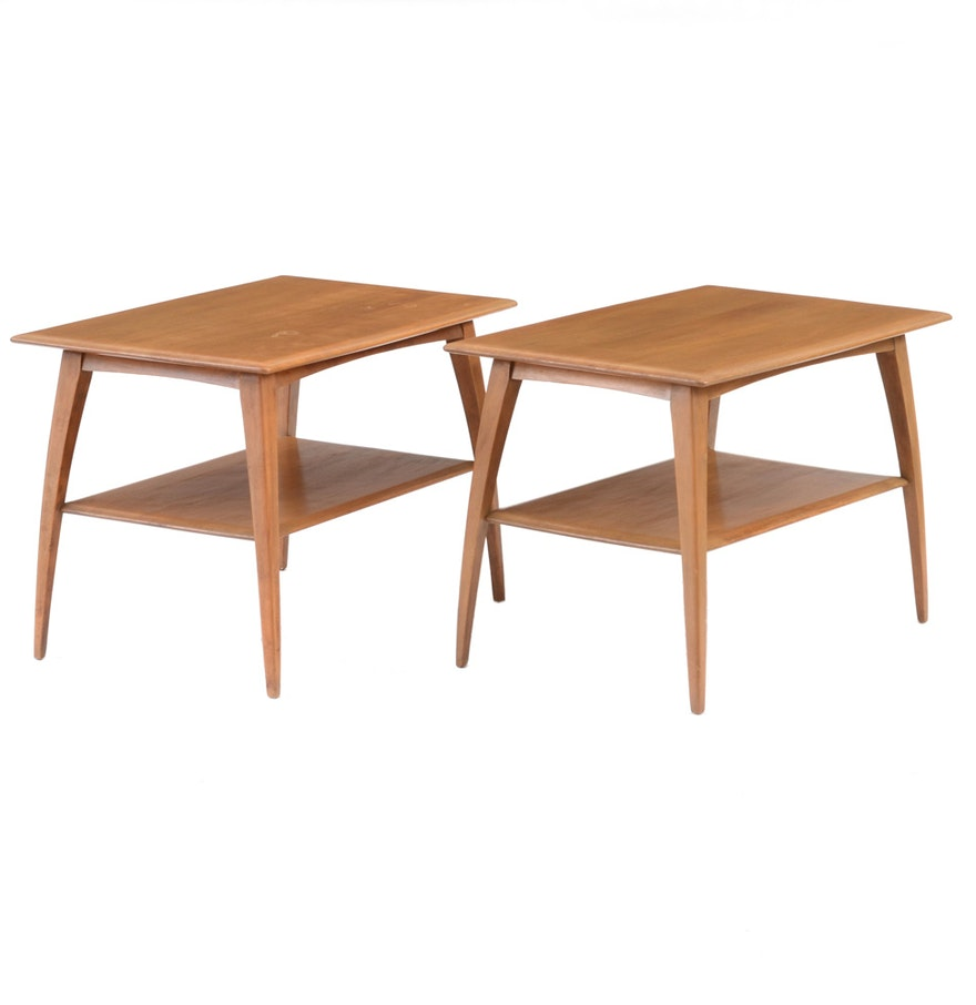 Mid century modern pair of heywood wakefield side tables ebth mid century modern pair of heywood wakefield side tables geotapseo Image collections